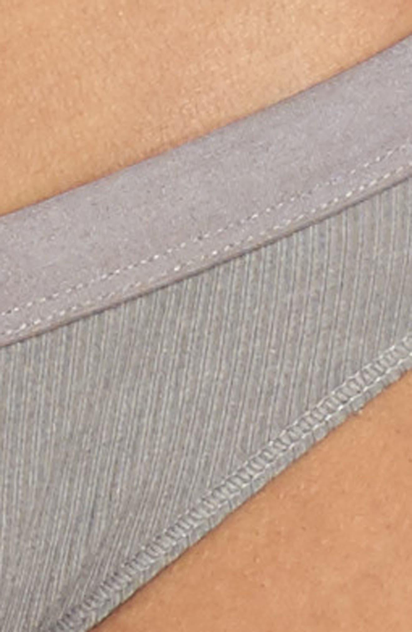 Rib Knit Bikini,                             Alternate thumbnail 4, color,                             058