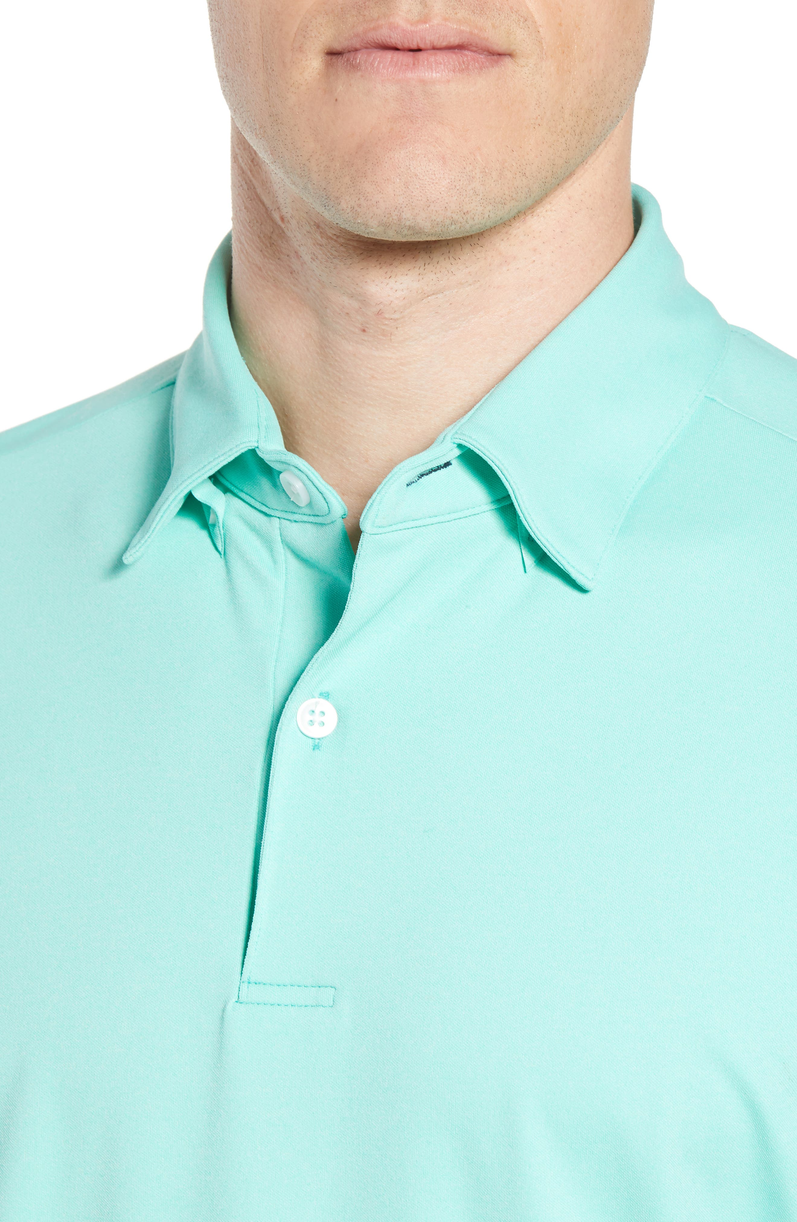 Slim Fit Active Polo,                             Alternate thumbnail 4, color,                             GREEN