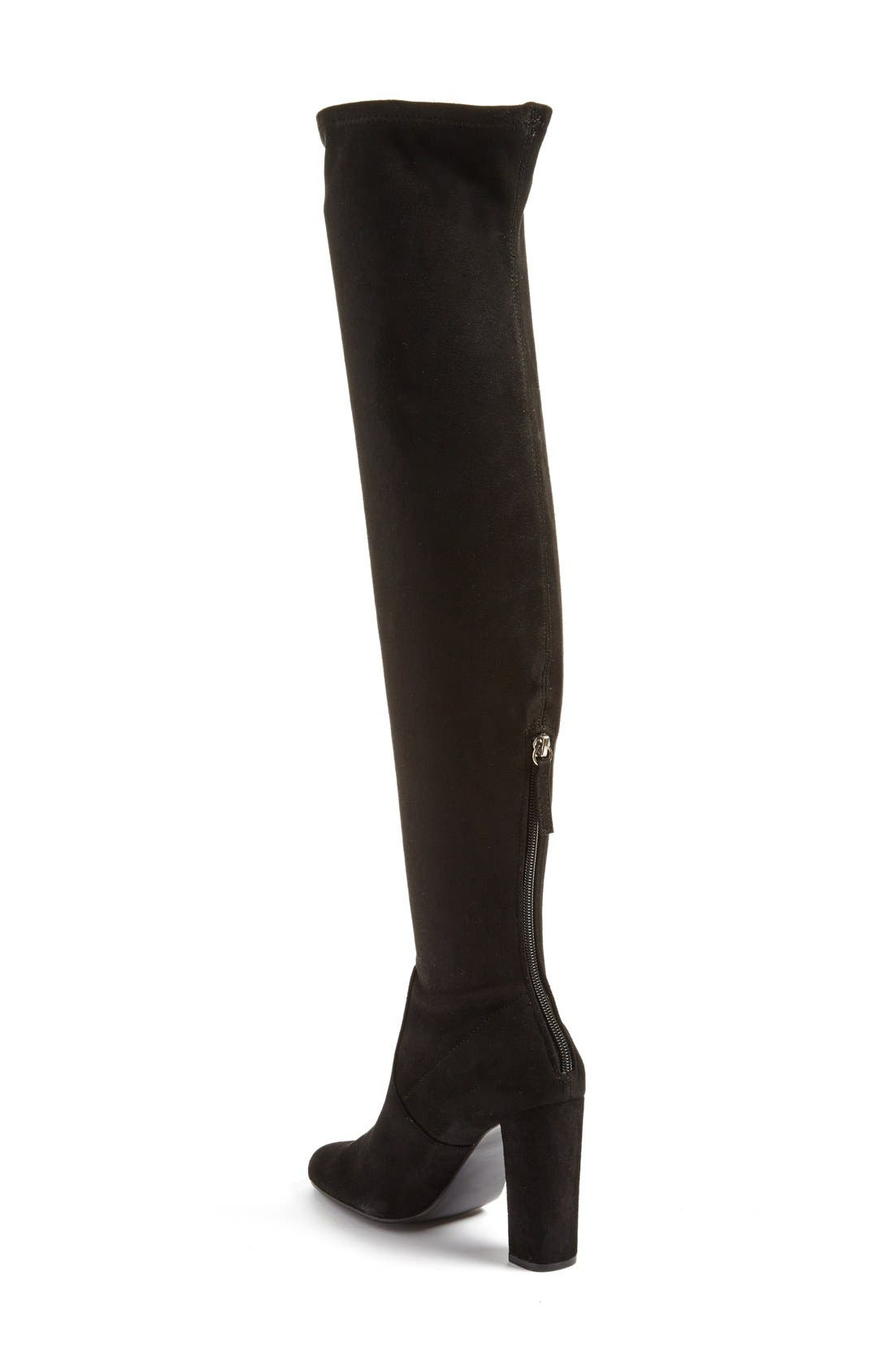 'Emotions' Stretch Over the Knee Boot,                             Alternate thumbnail 3, color,                             001