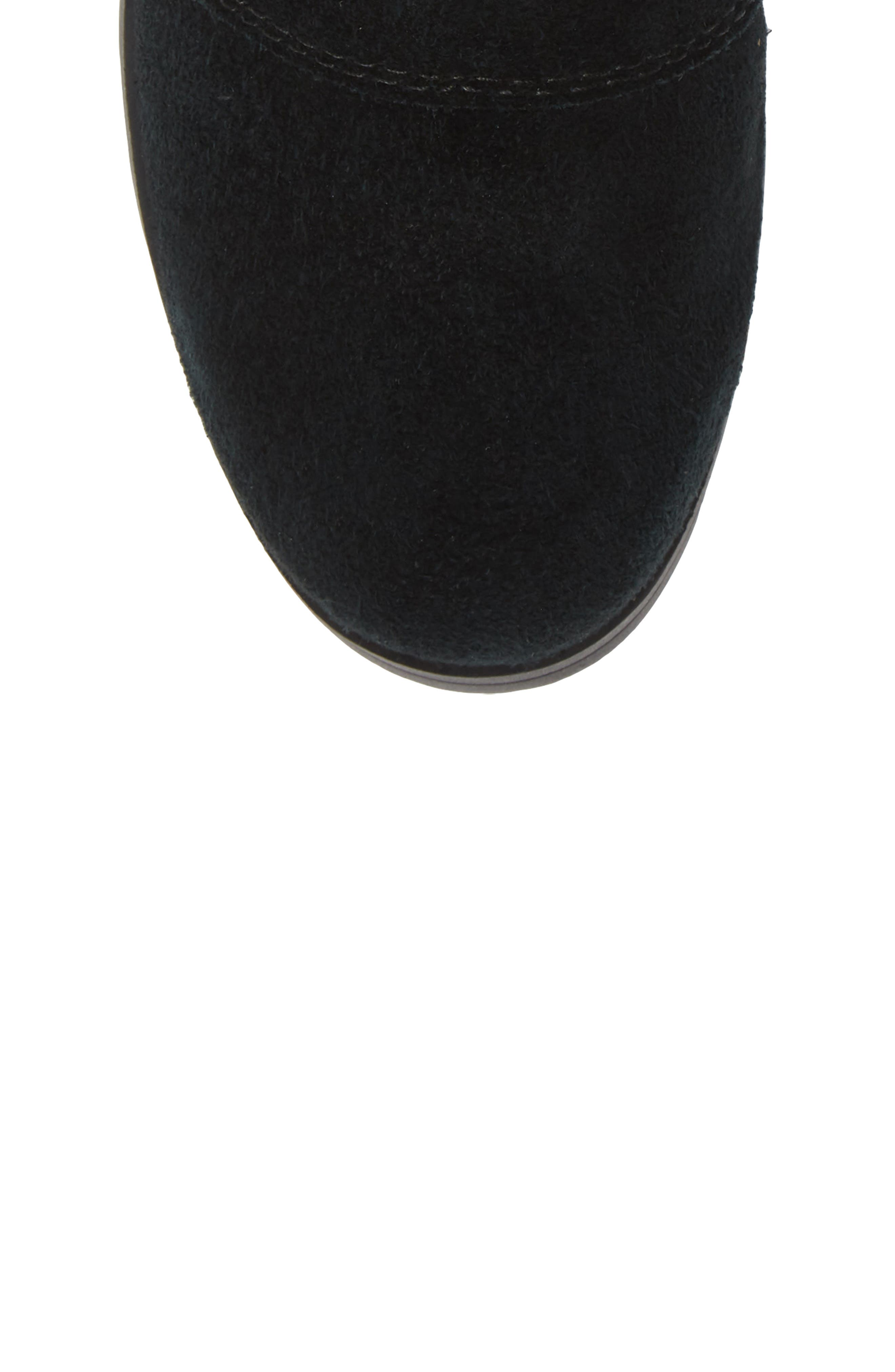 Emelie Waterproof Chelsea Boot,                             Alternate thumbnail 5, color,                             BLACK