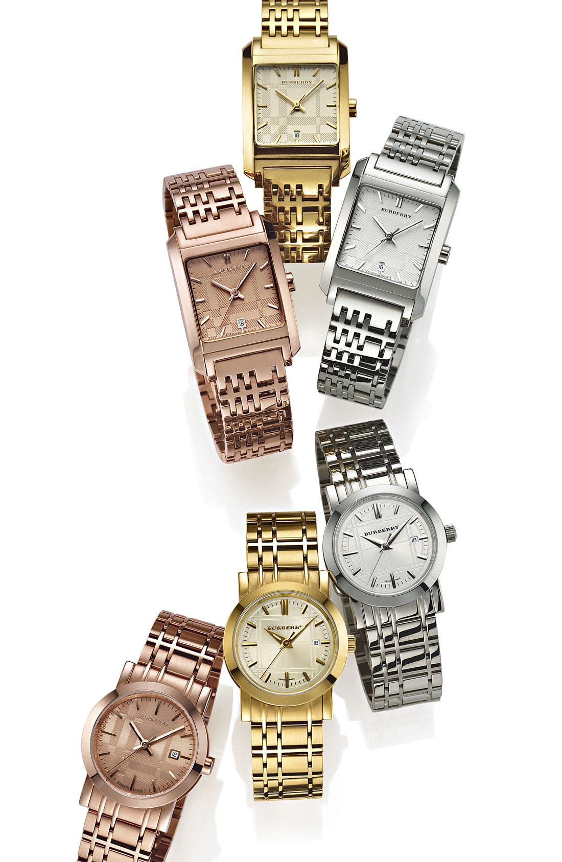 Gold Plated Bracelet Watch, 28mm,                             Alternate thumbnail 2, color,                             710