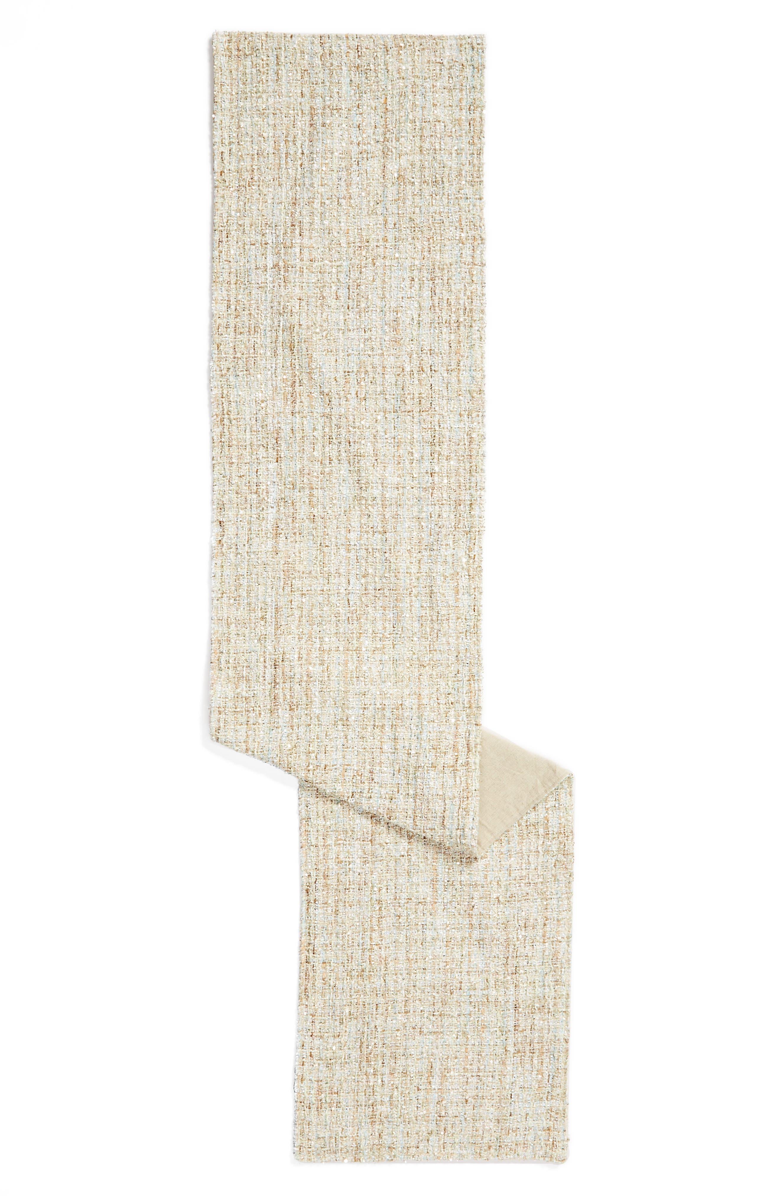 LEVTEX Metallic Woven Table Runner, Main, color, 300