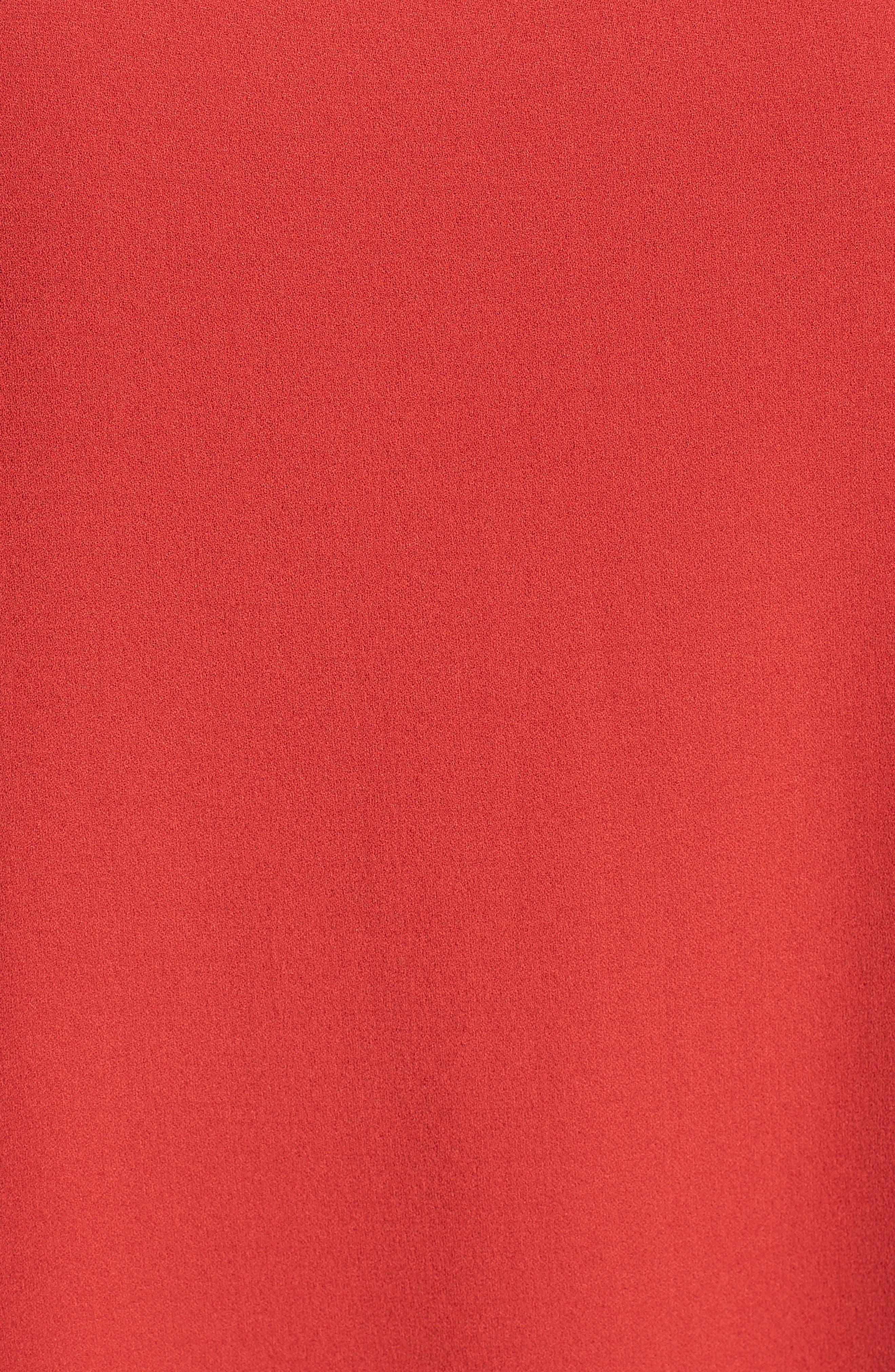 Long Bateau Neck Silk Shell,                             Alternate thumbnail 5, color,                             SERRANO