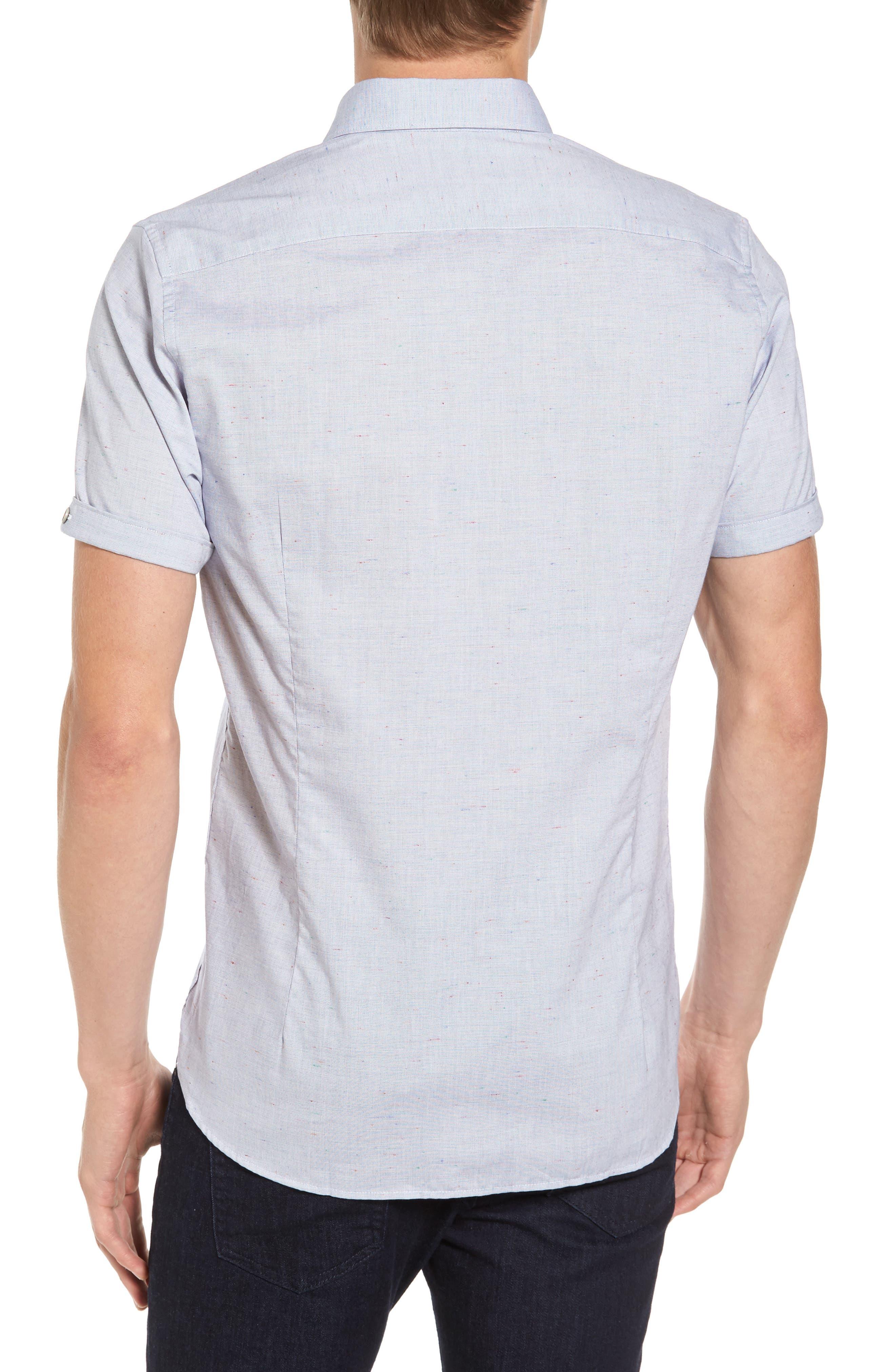 Beya Slim Fit Nepped Woven Shirt,                             Alternate thumbnail 2, color,                             421