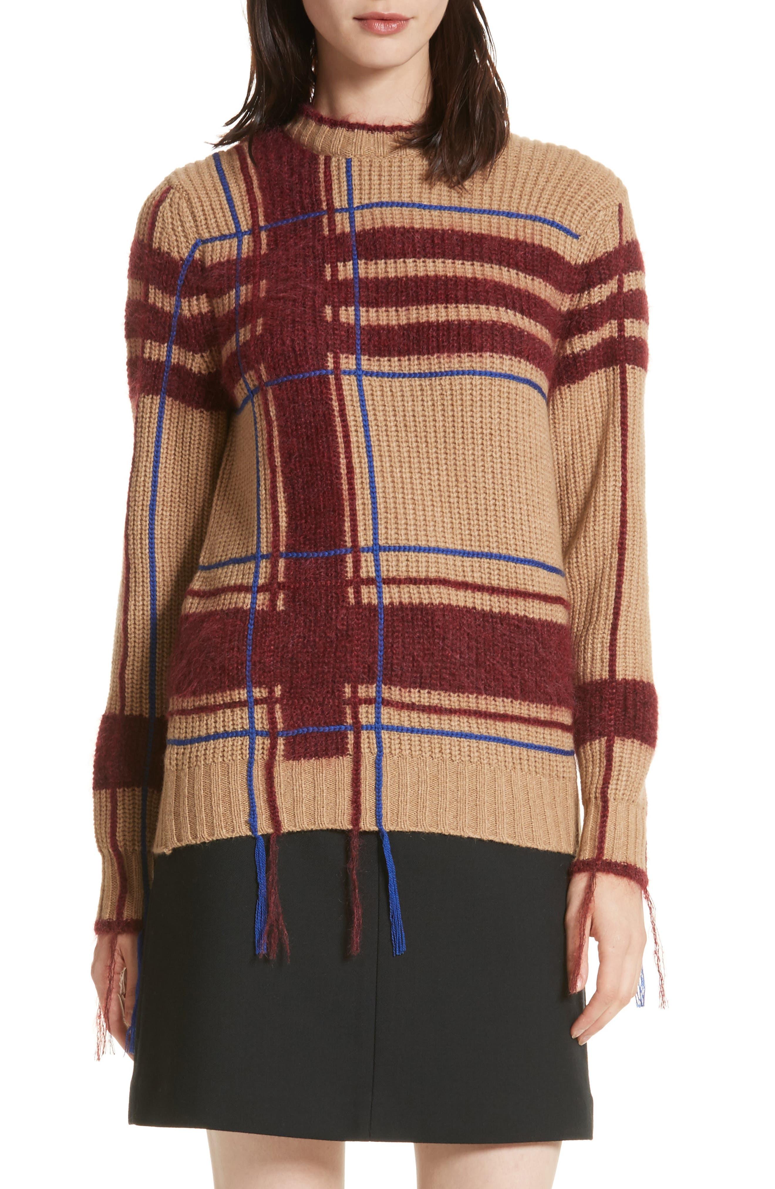 Eden Plaid Sweater,                         Main,                         color, 250