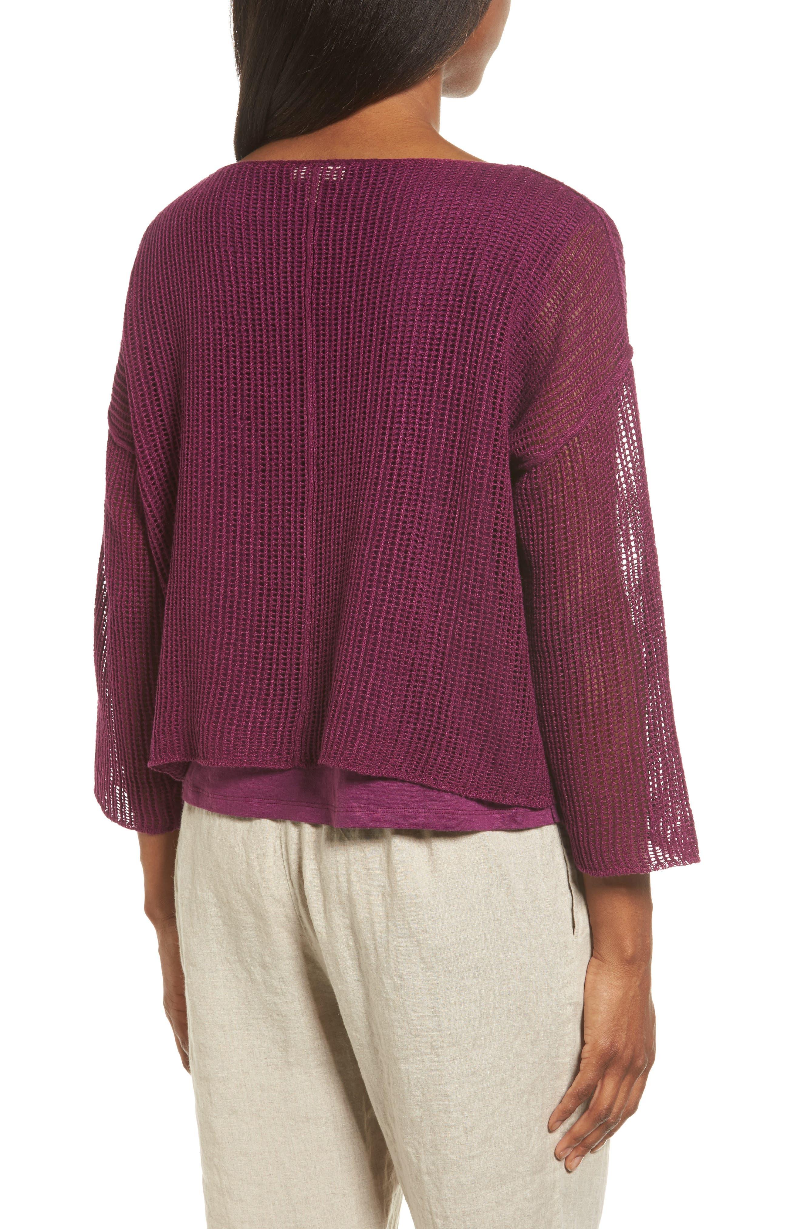 Organic Linen Crop Sweater,                             Alternate thumbnail 10, color,