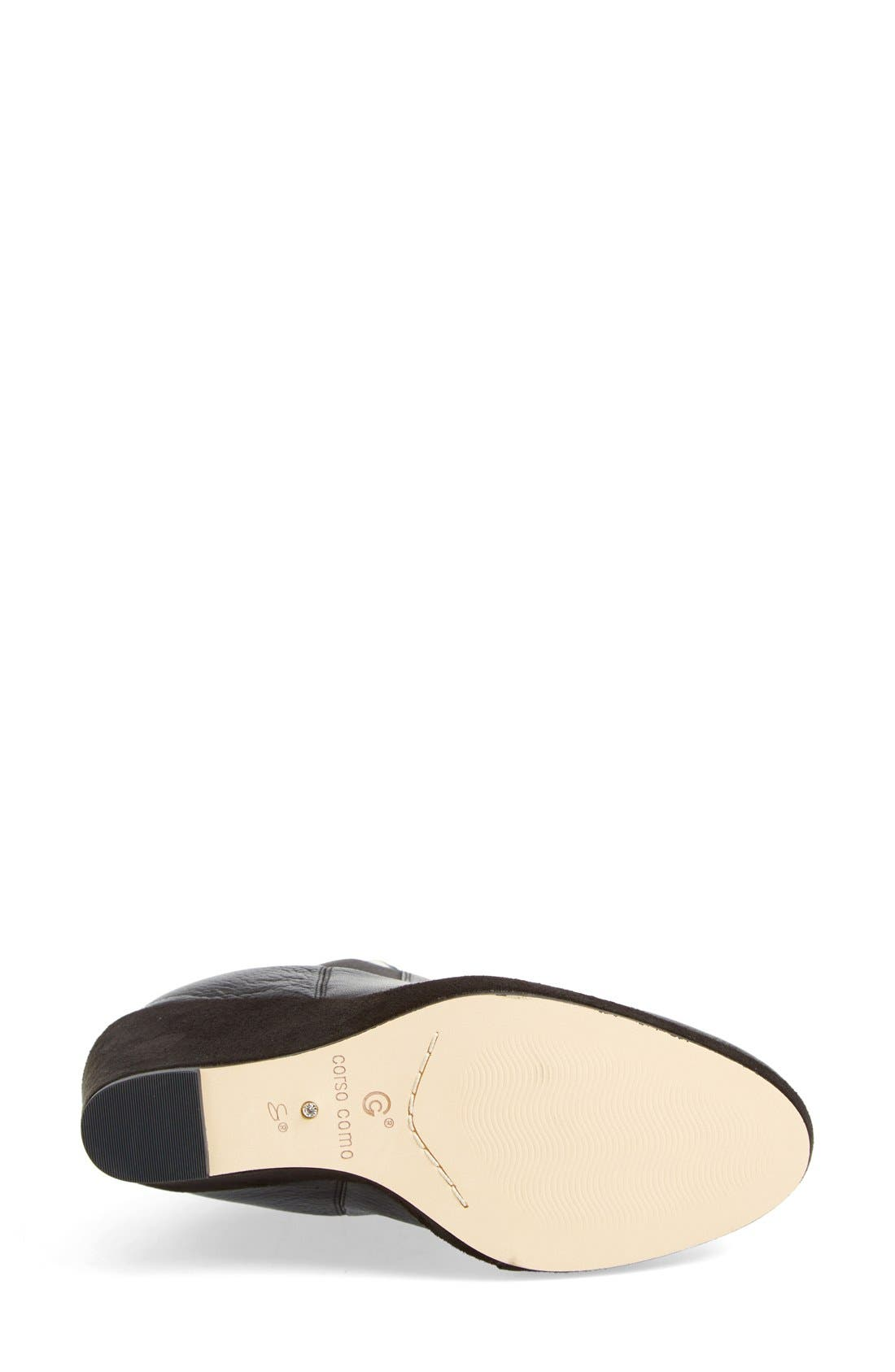 CORSO COMO,                             Corso Como 'Coast' Wedge Bootie,                             Alternate thumbnail 3, color,                             001