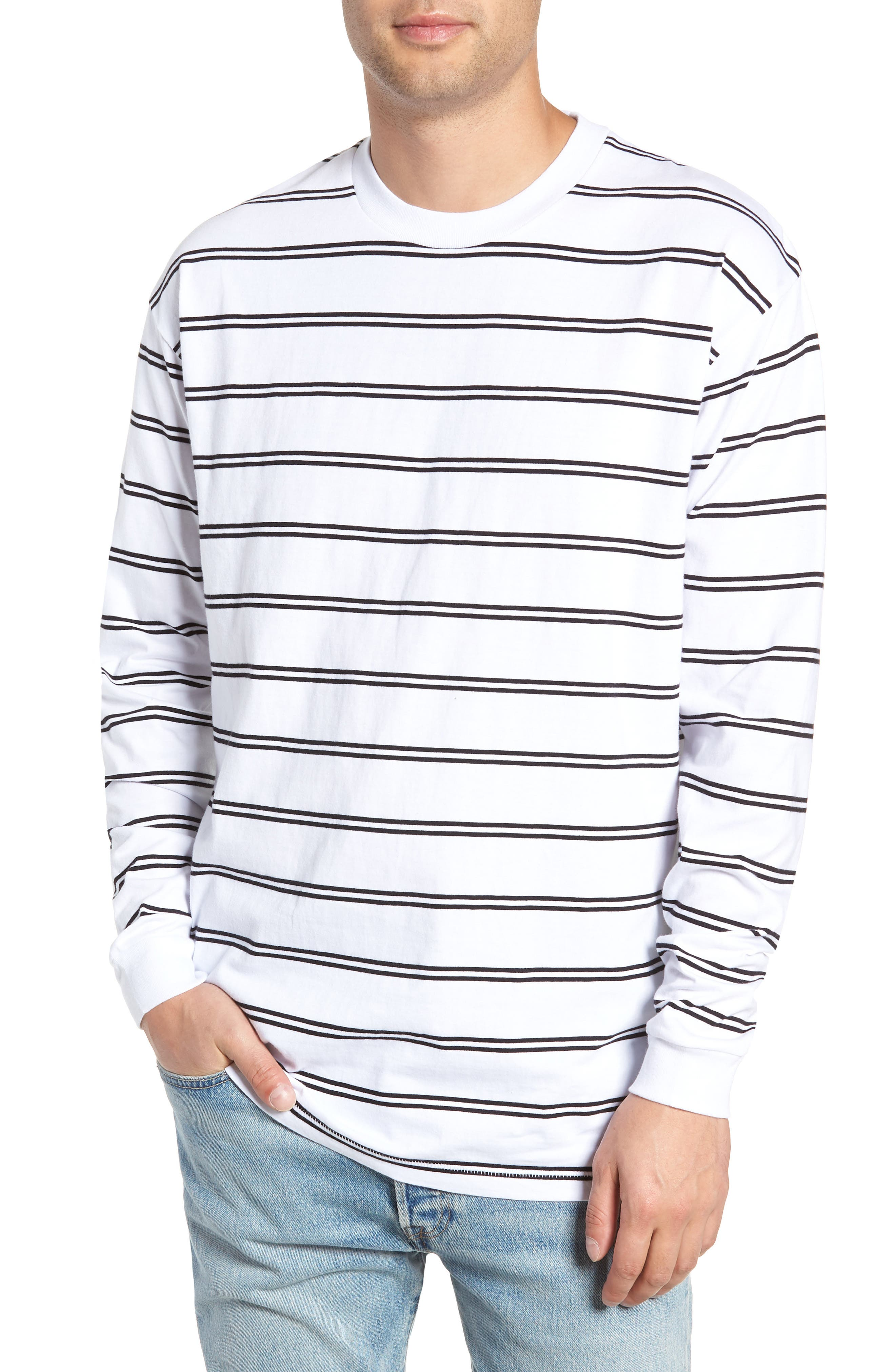 Channel Box Long Sleeve T-Shirt,                         Main,                         color, 100