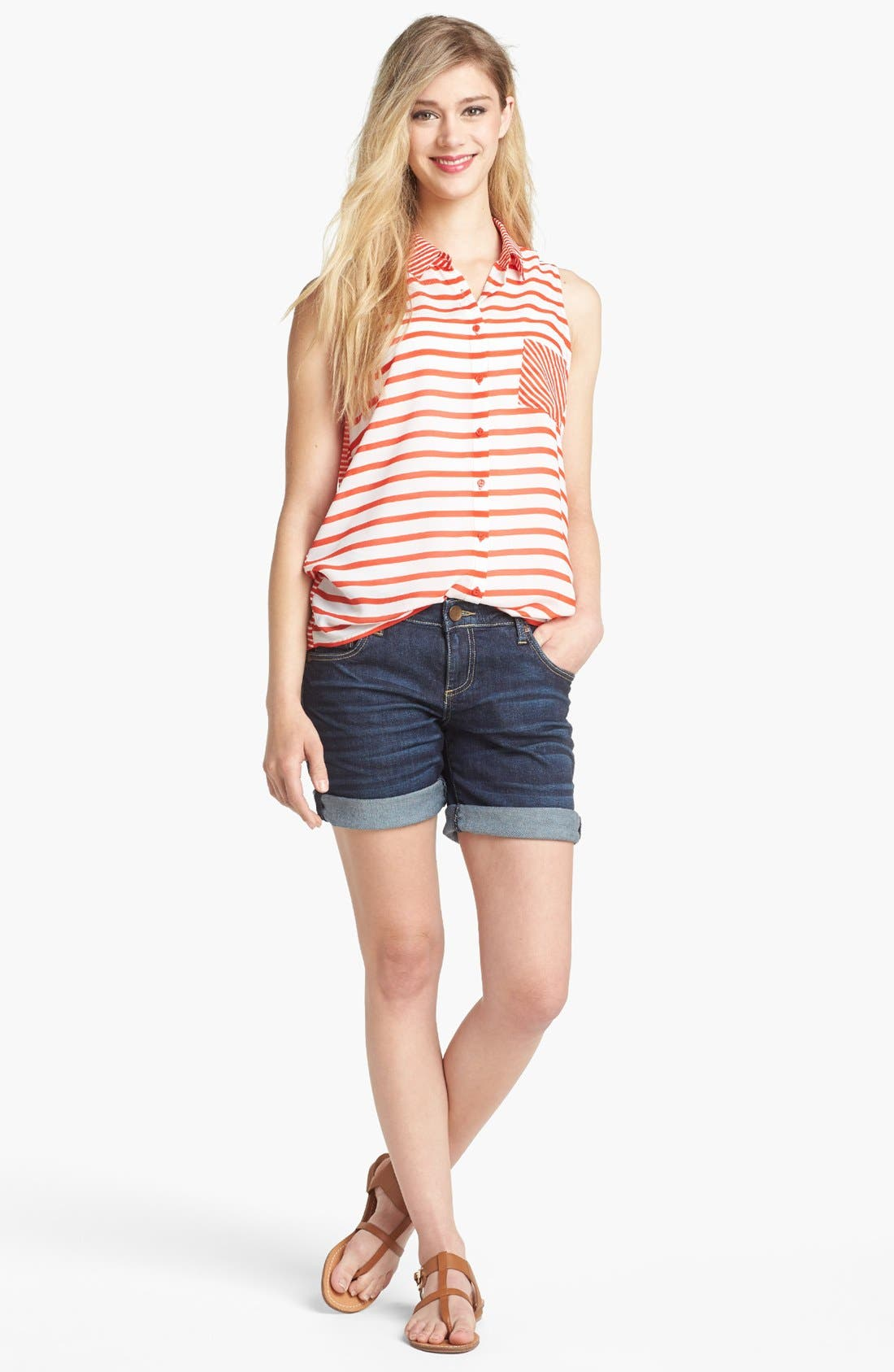 Boyfriend Denim Shorts,                             Alternate thumbnail 3, color,                             400