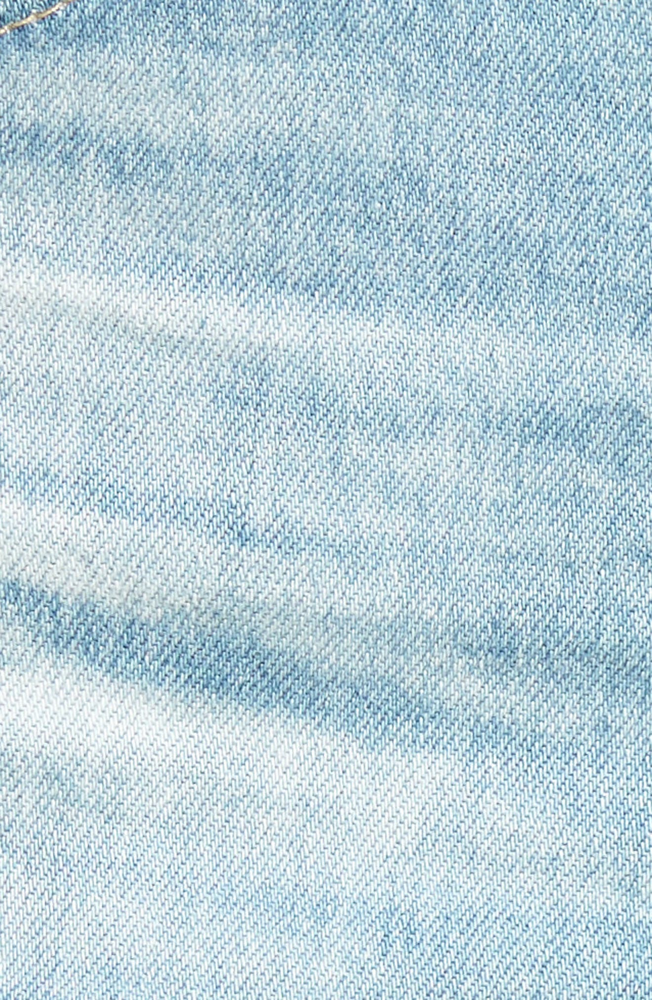 Bryn High Waist Cutoff Denim Shorts,                             Alternate thumbnail 6, color,                             426