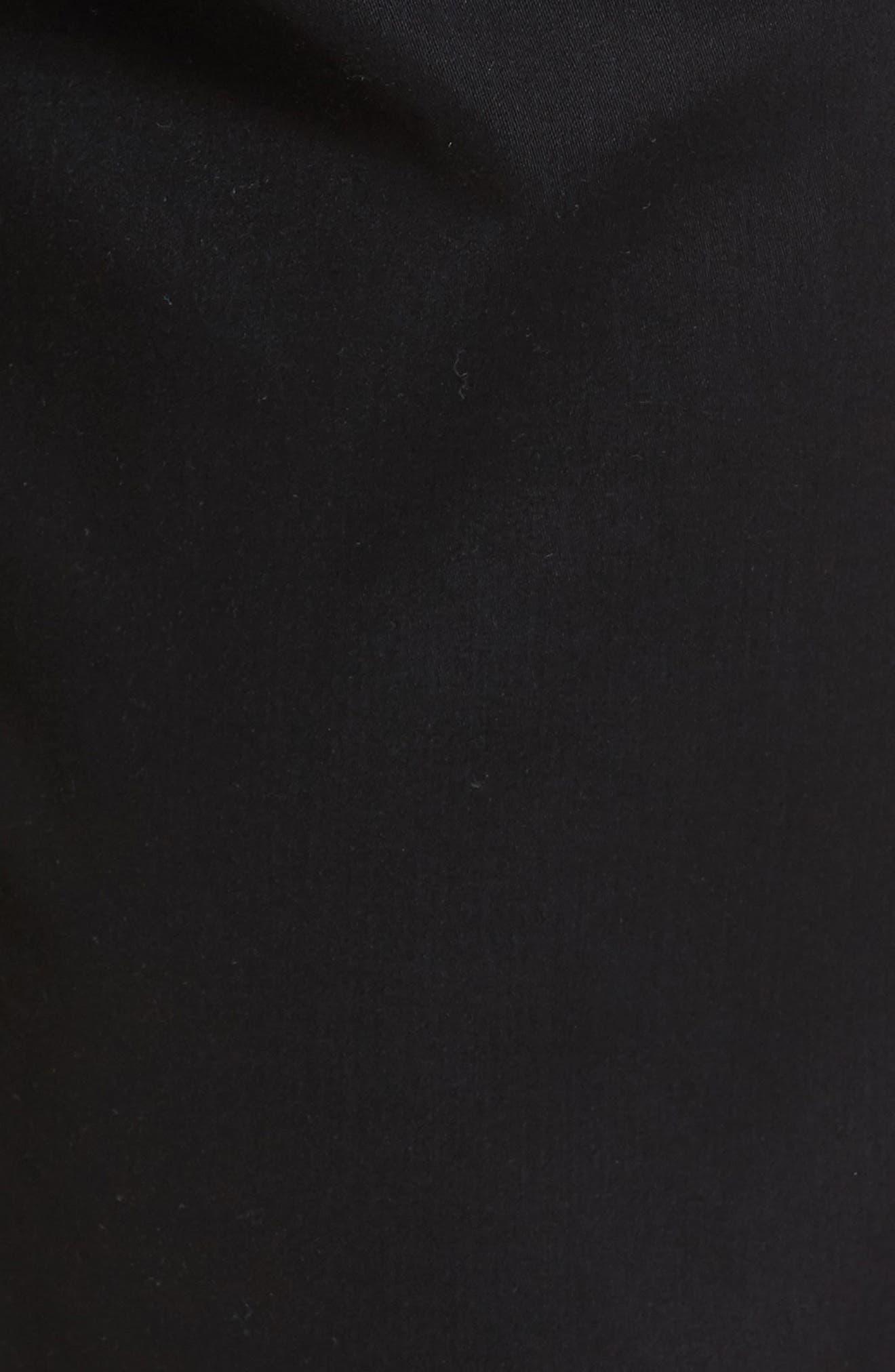 Cooper Prestige Stretch Cotton Pants,                             Alternate thumbnail 6, color,                             PERMA BLACK