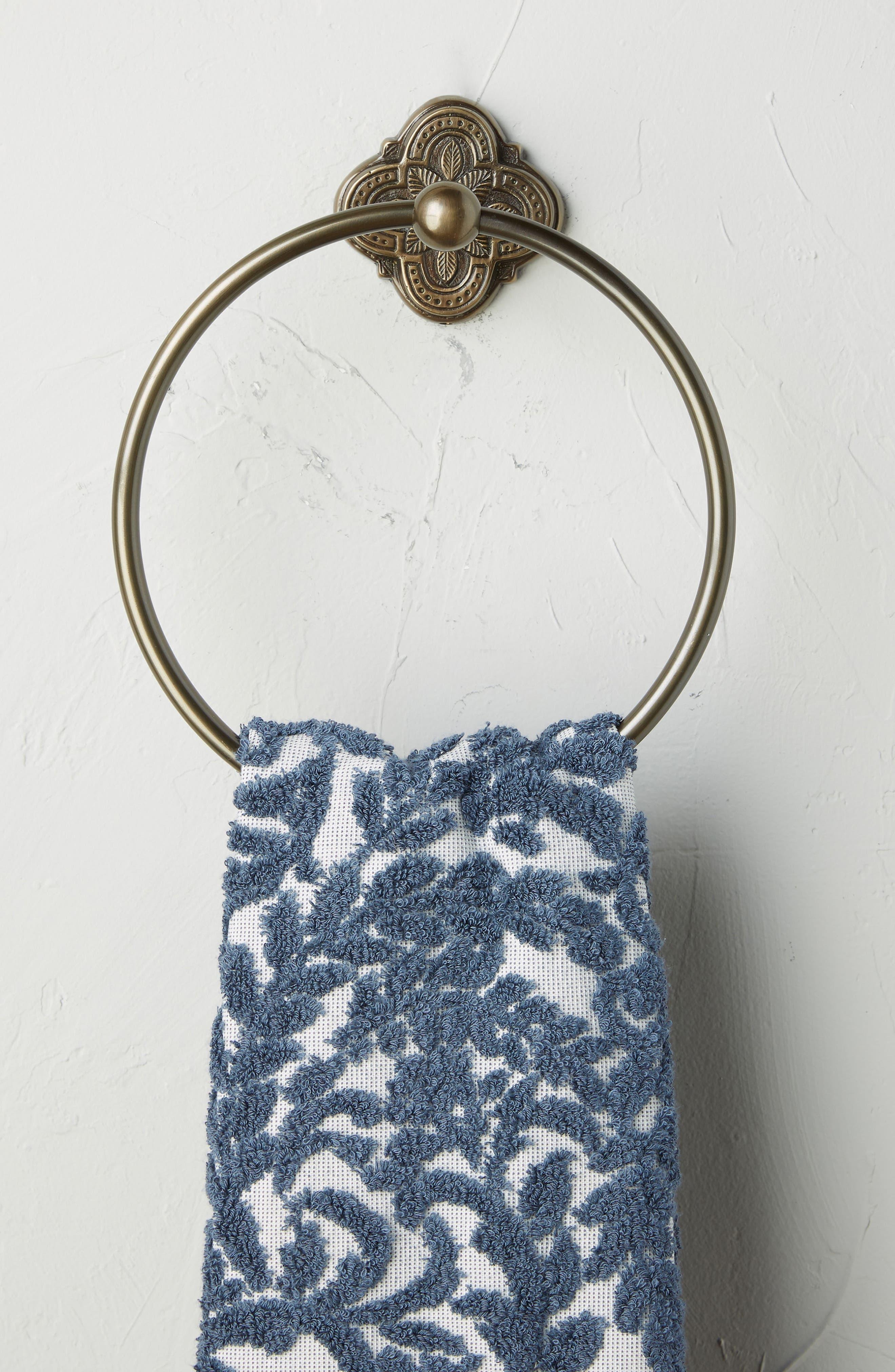 Ferriday Towel Ring,                             Alternate thumbnail 2, color,                             BROWN