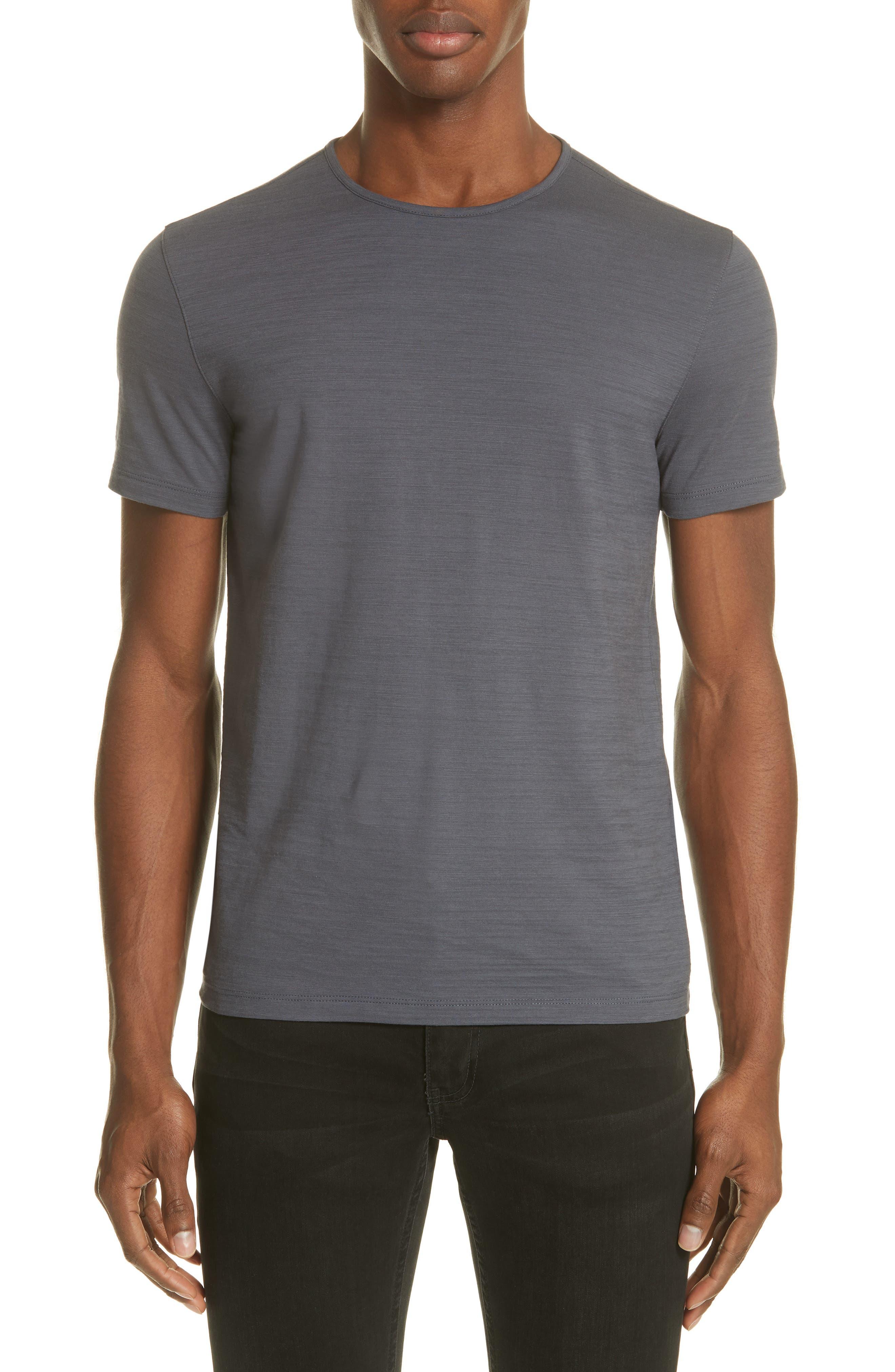 Slub Crewneck T-Shirt,                         Main,                         color, AUBERGINE