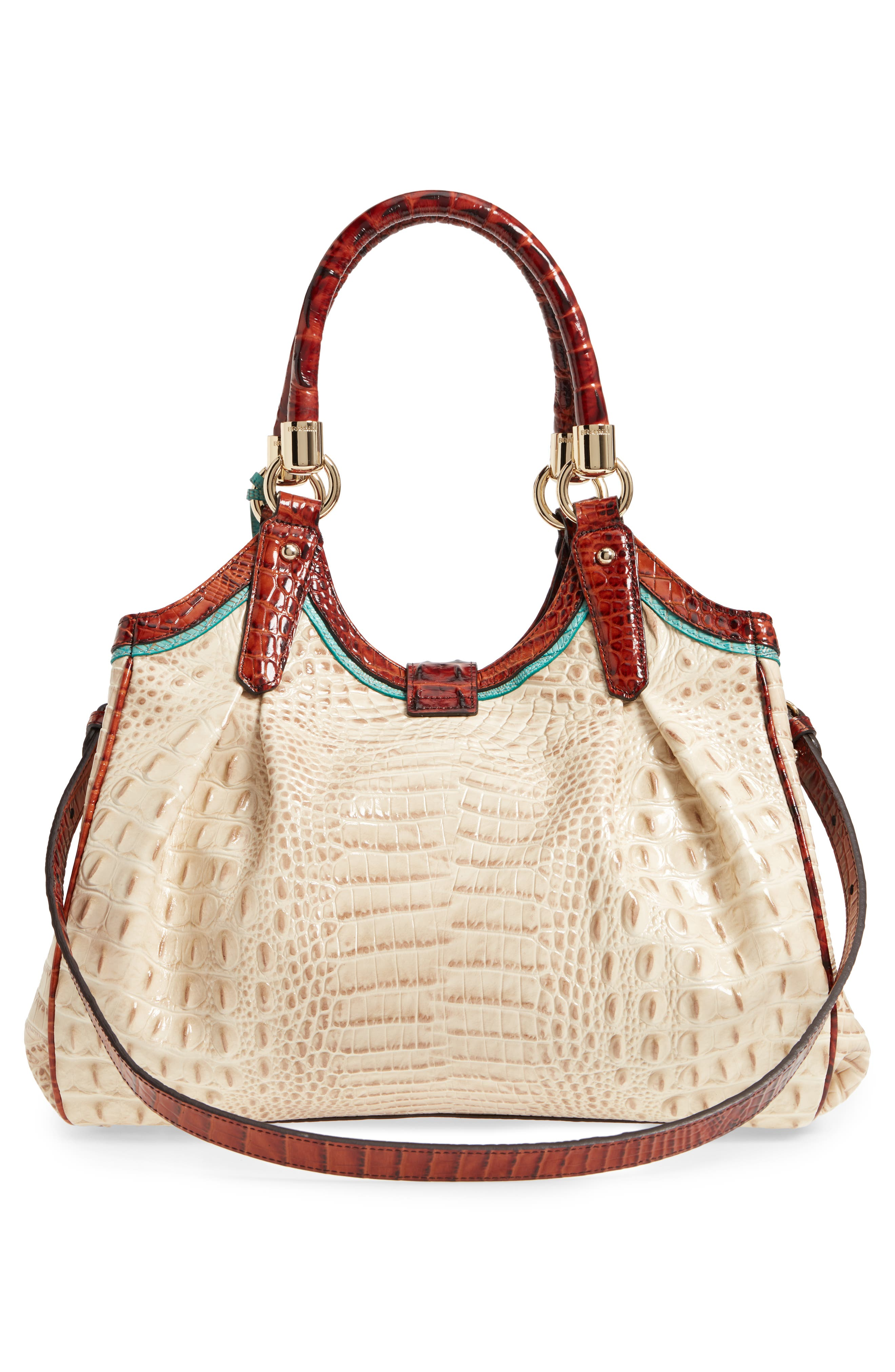 Elisa Leather Shoulder Bag,                             Alternate thumbnail 3, color,                             VANILLA