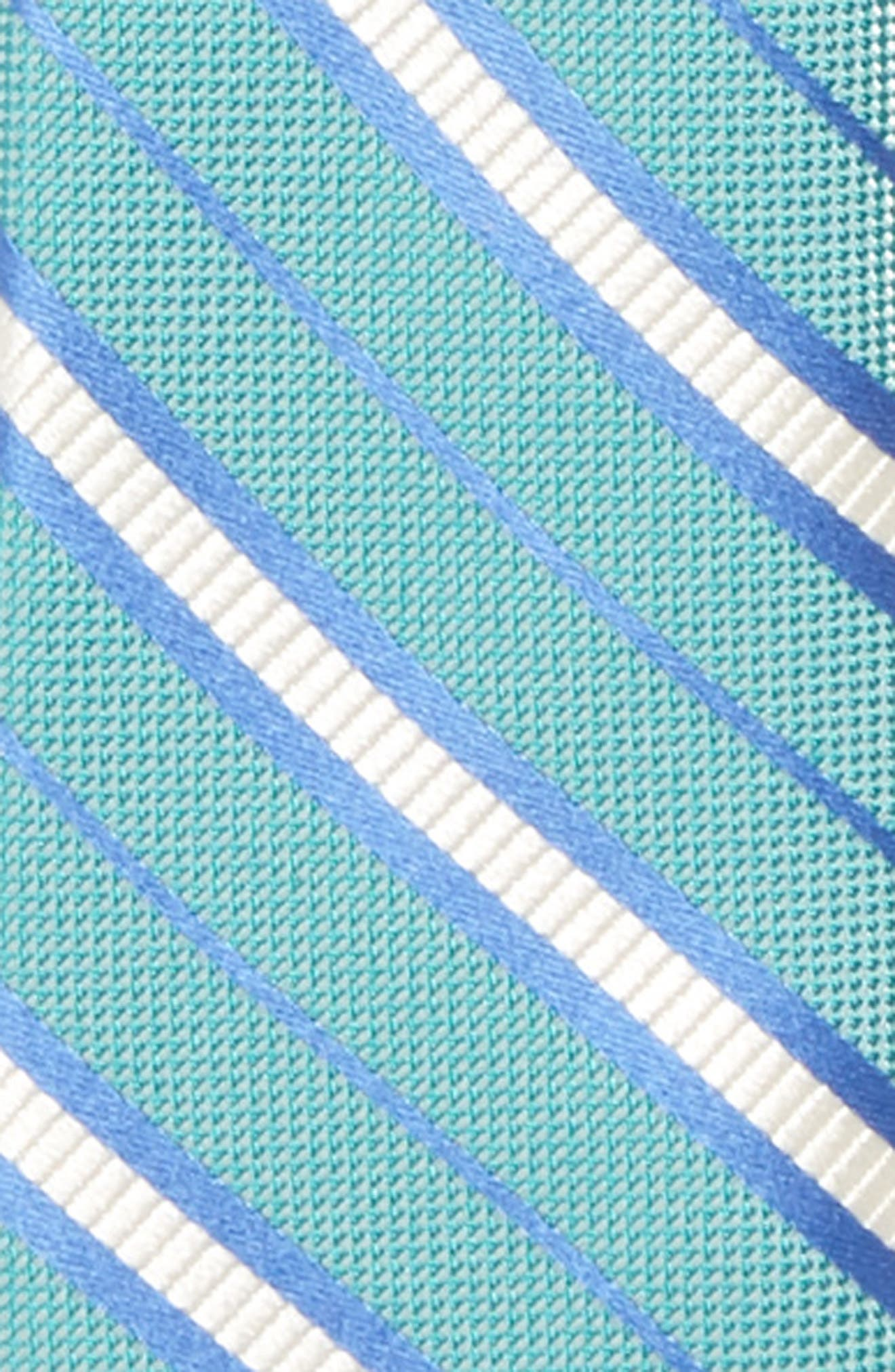 Candy Stripe Silk Zip Tie,                             Alternate thumbnail 4, color,