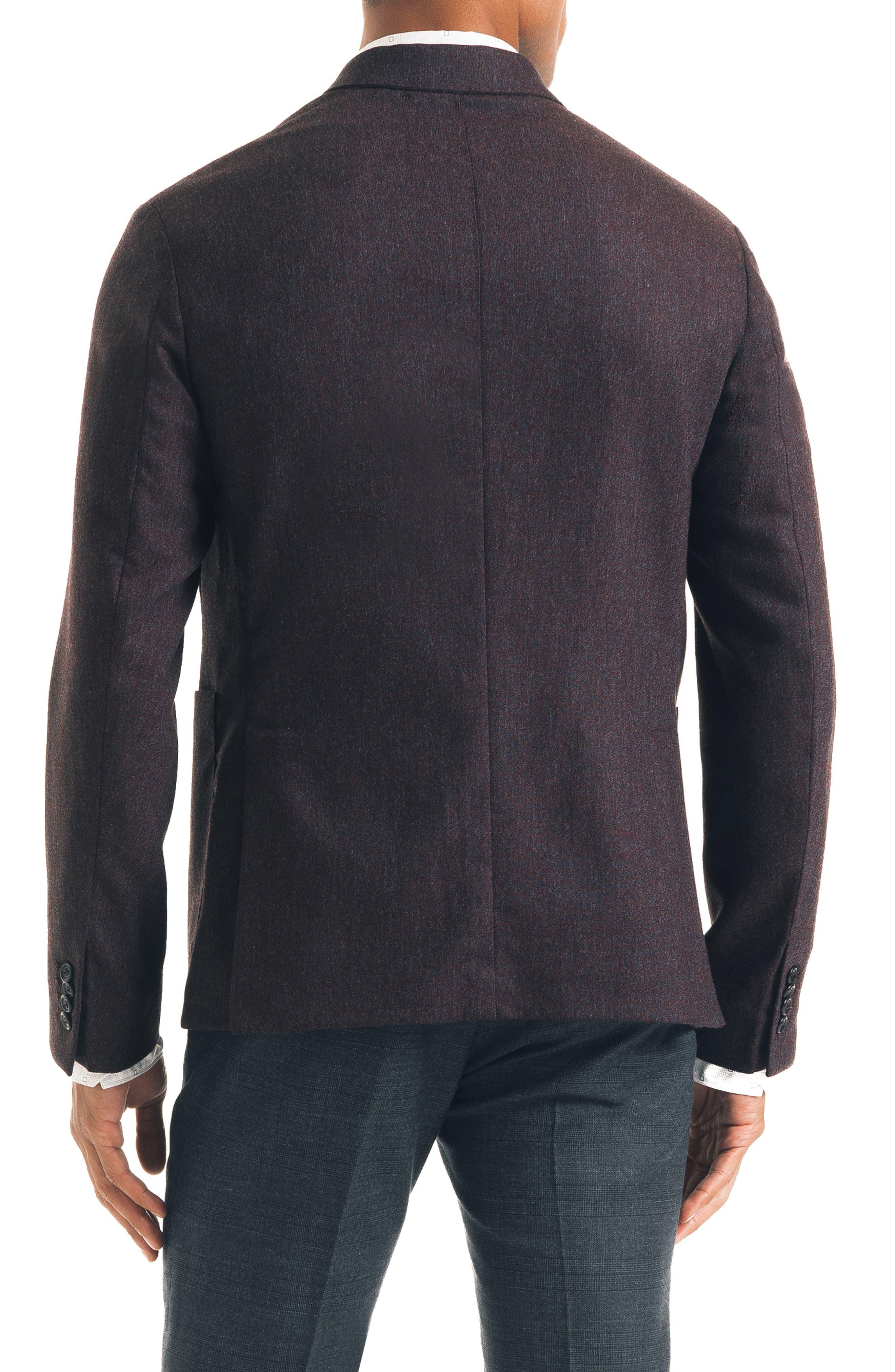 Downtown Trim Fit Stretch Wool Blend Sport Coat,                             Alternate thumbnail 2, color,                             BURGUNDY