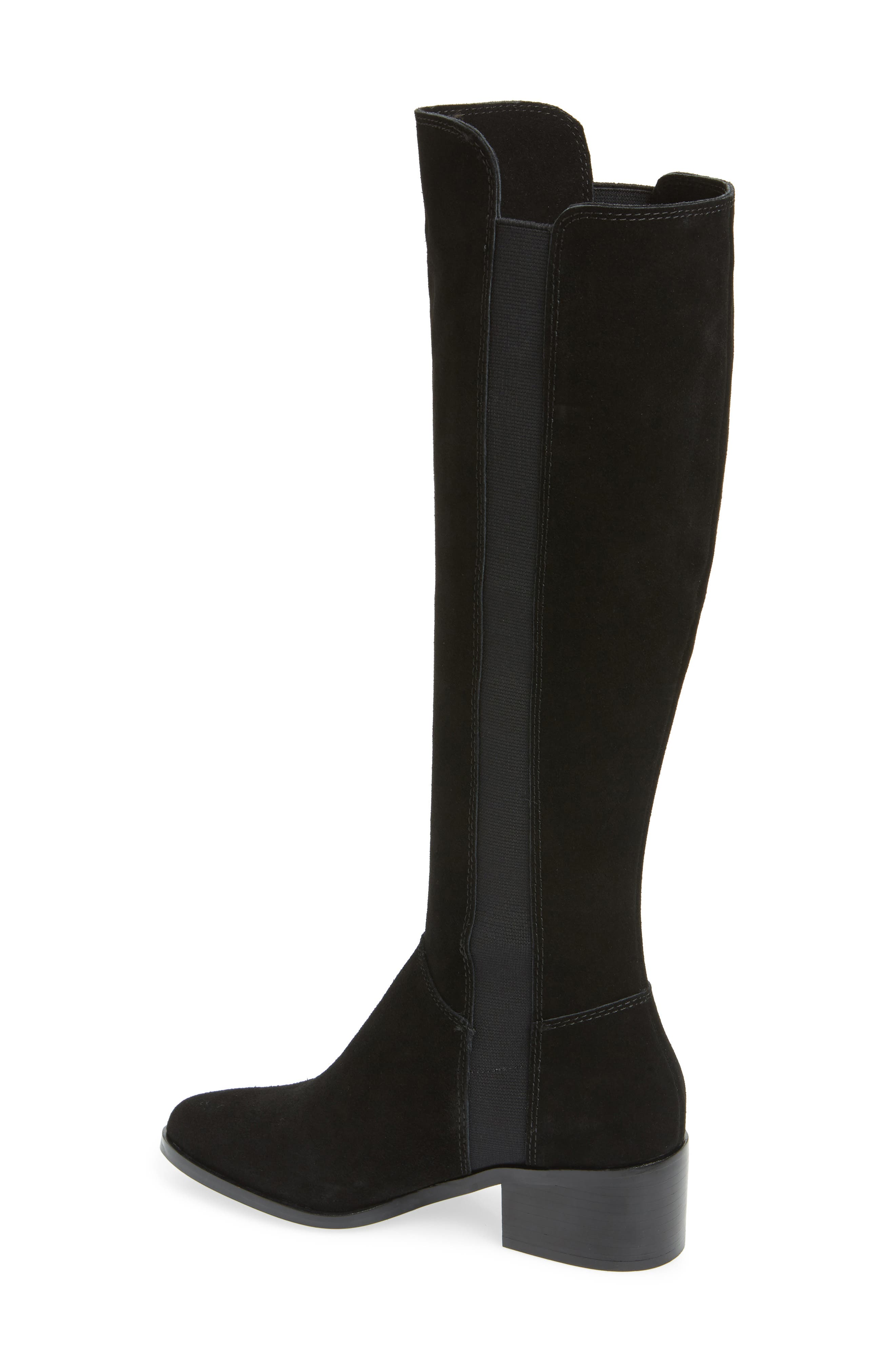 Giselle Over the Knee Boot,                             Alternate thumbnail 2, color,                             BLACK SUEDE