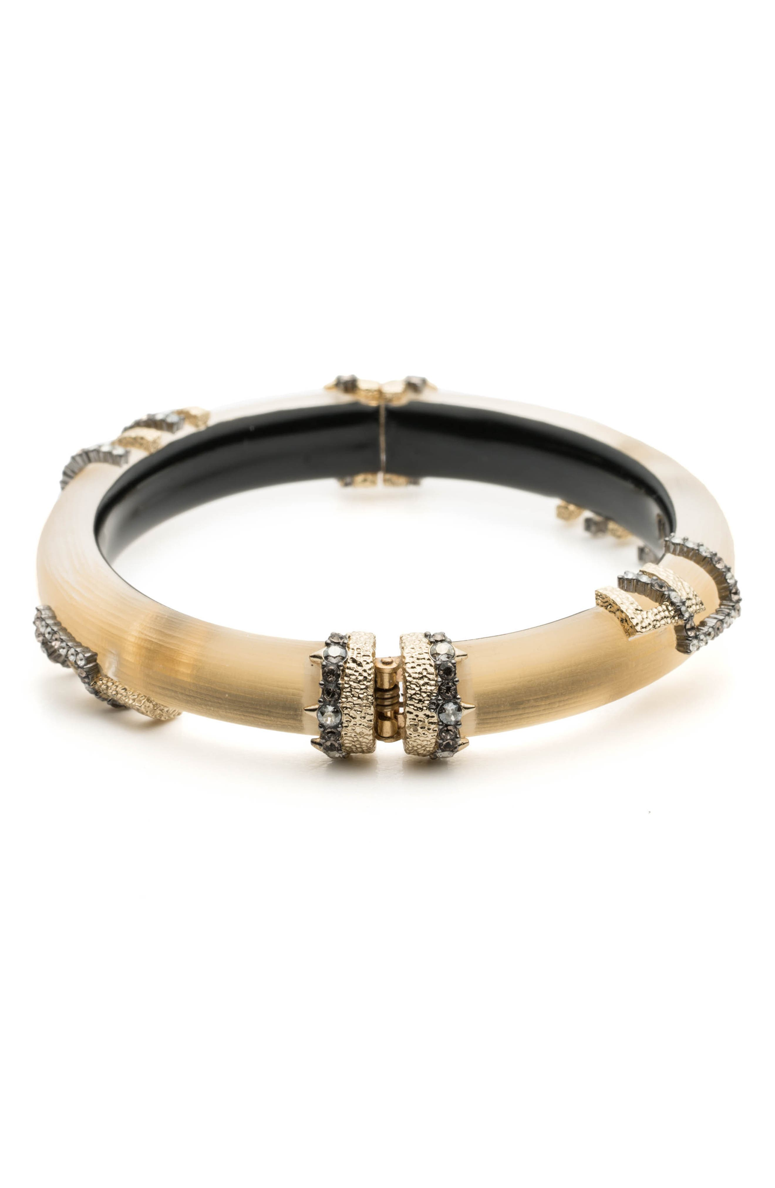 Brutalist Studded Skinny Hinge Bracelet,                             Alternate thumbnail 2, color,                             GOLD