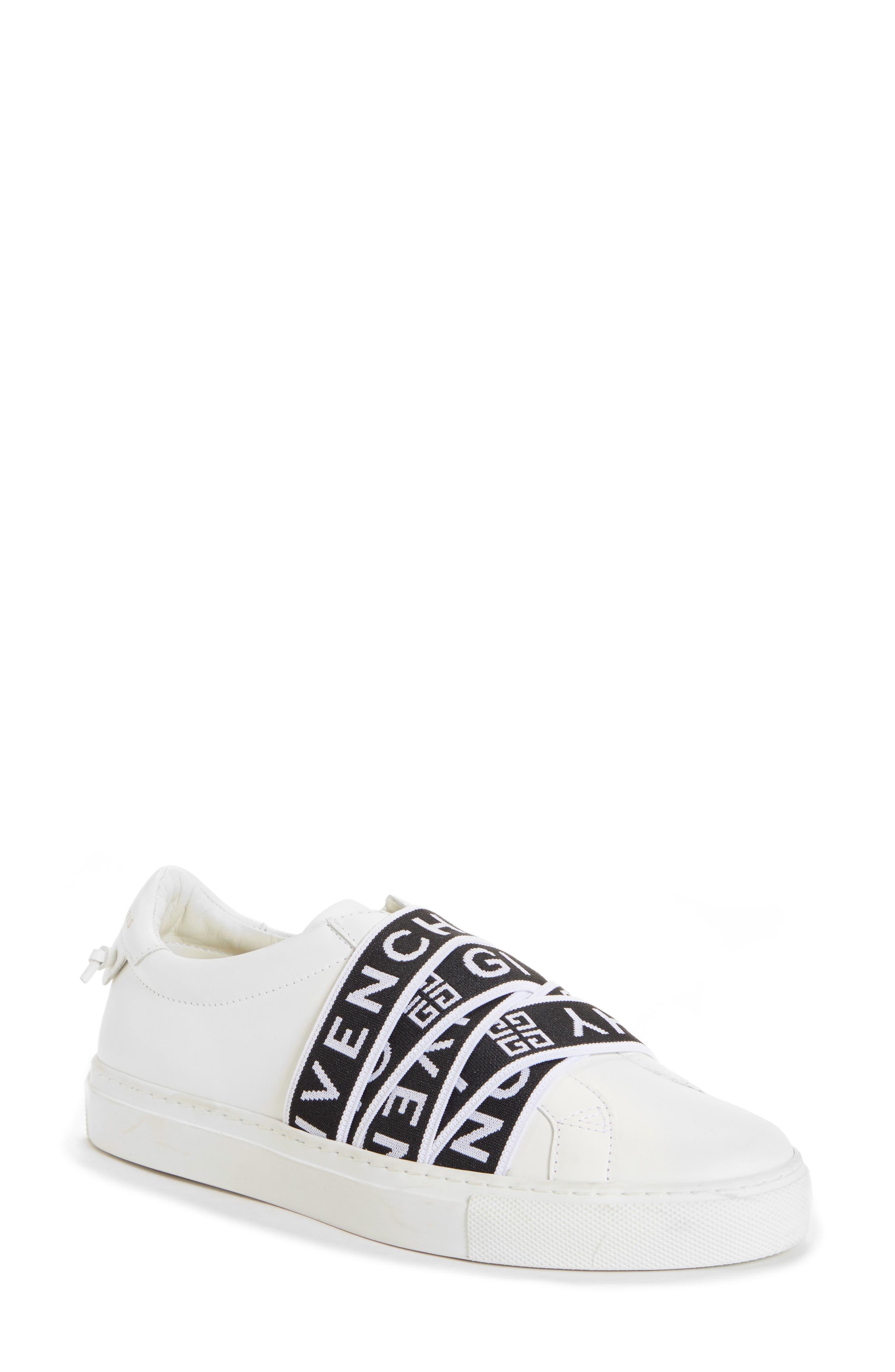 GIVENCHY,                             Urban Street Logo Strap Sneaker,                             Main thumbnail 1, color,                             WHITE/ BLACK