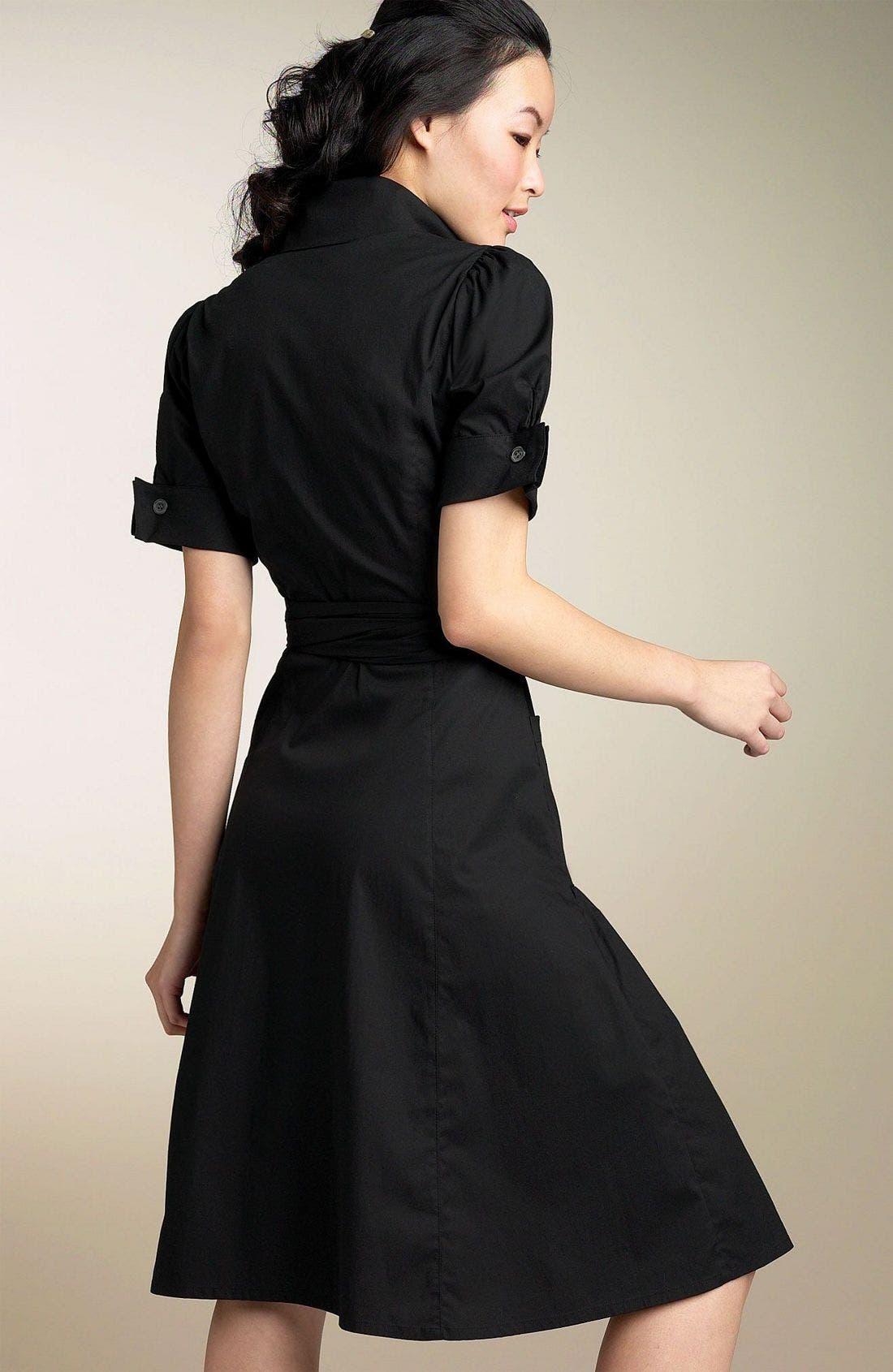 'Bellette' Wrap Dress,                             Alternate thumbnail 2, color,                             BLK