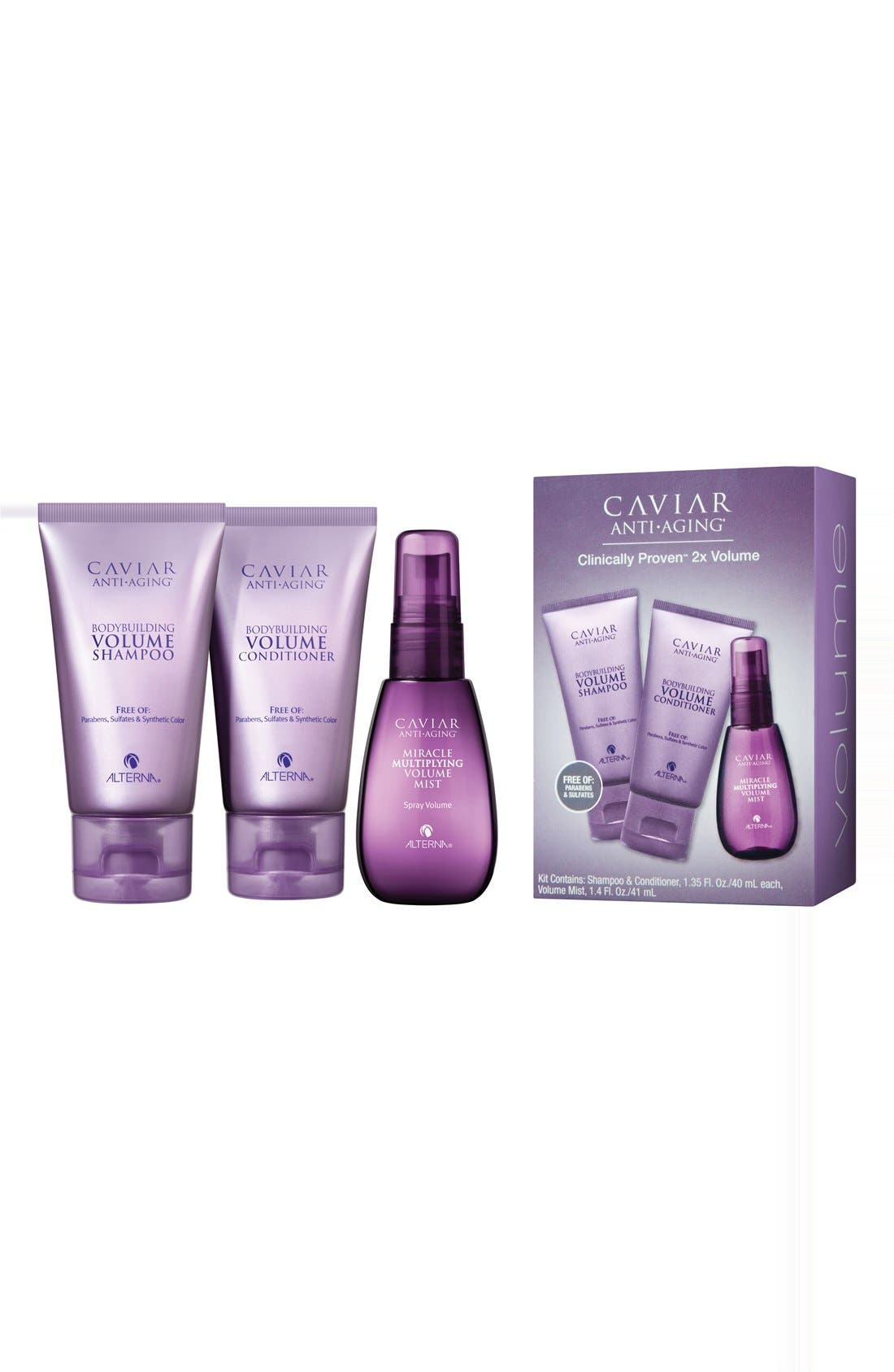 Caviar Volume Try Me Kit,                             Main thumbnail 1, color,                             000