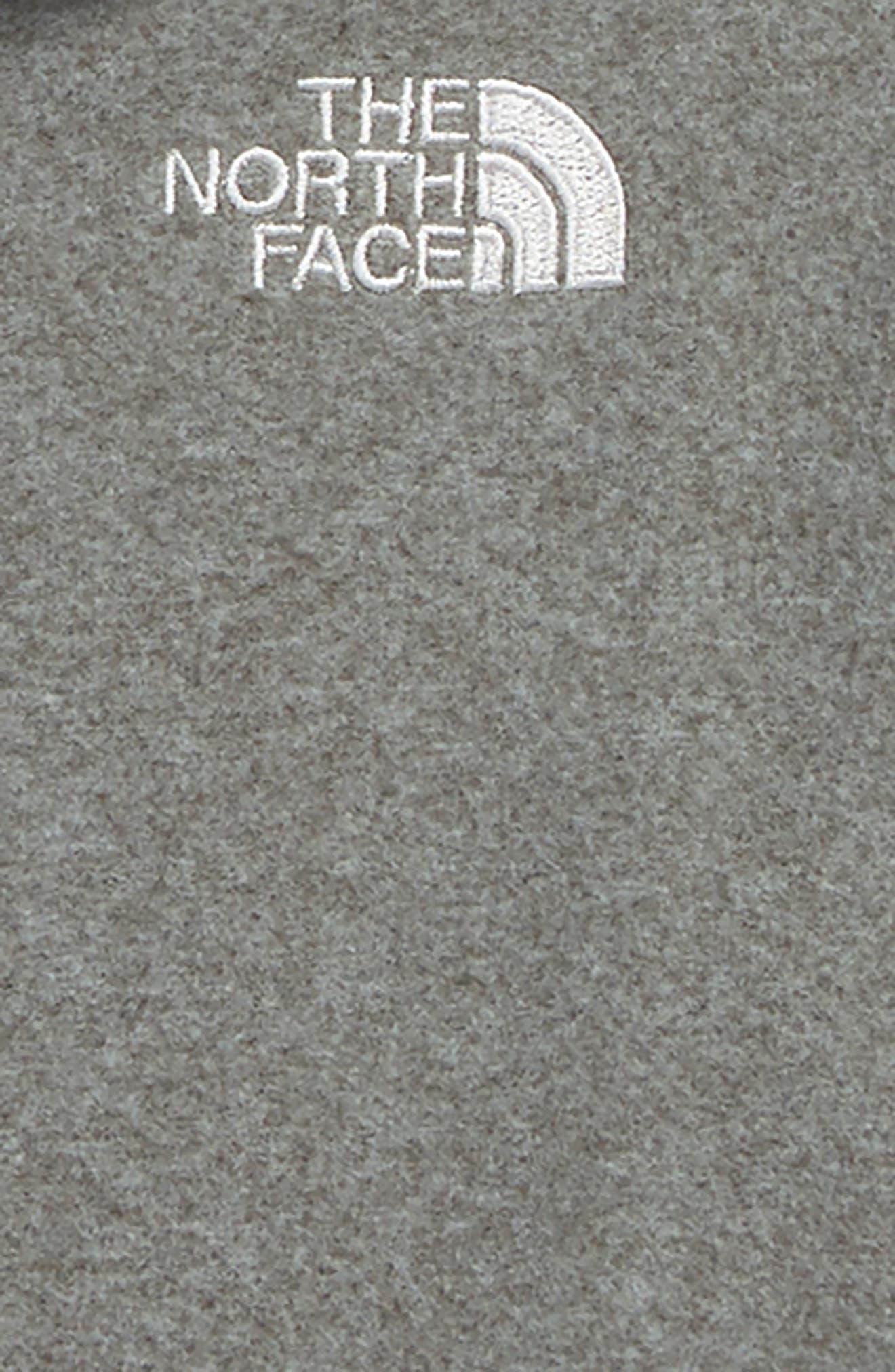 Glacier Full Zip Fleece Hoodie,                             Alternate thumbnail 2, color,                             TNF MEDIUM GREY HEATHER