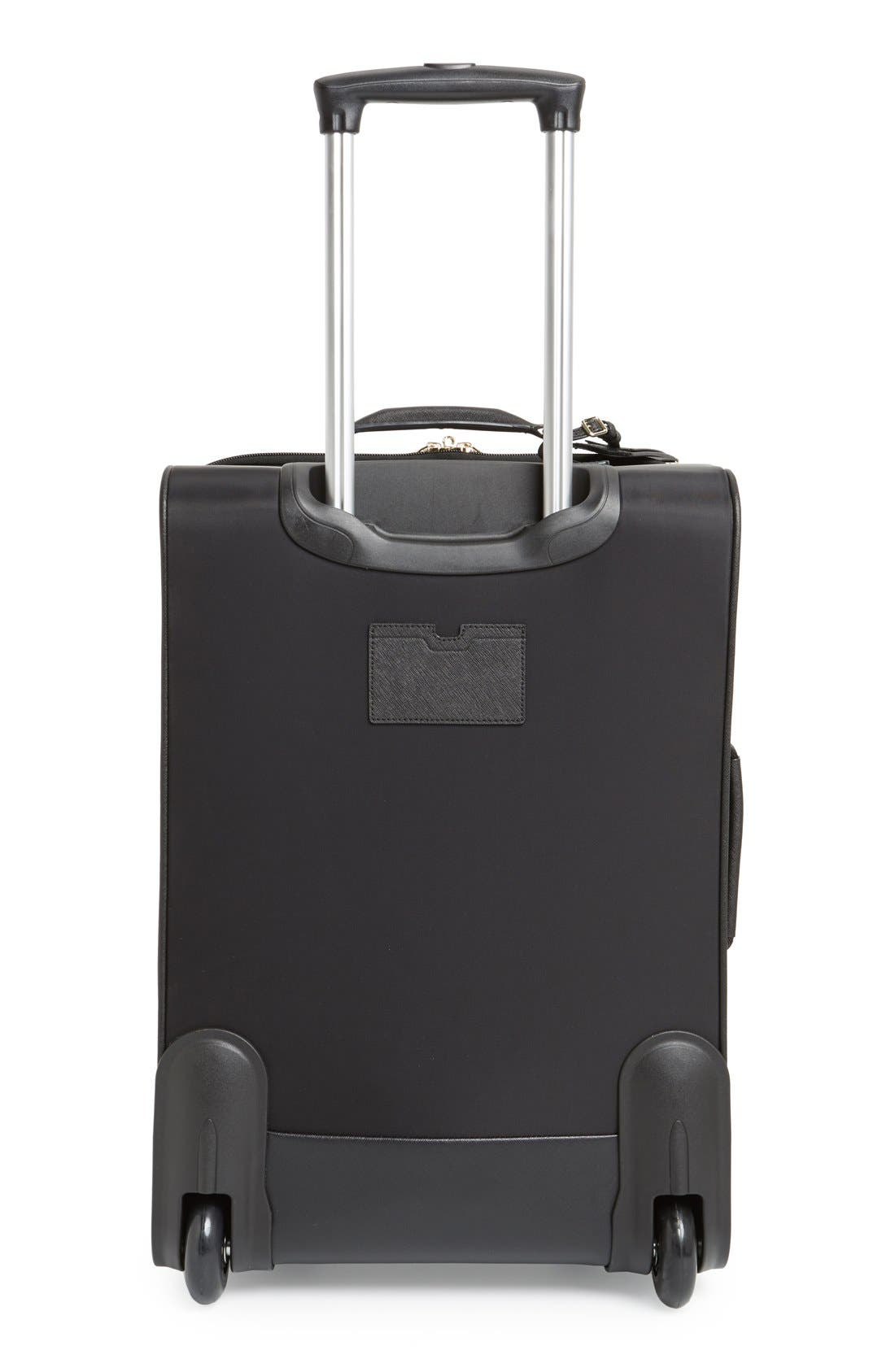 'classic' nylon international two-wheel carry-on suitcase,                             Alternate thumbnail 4, color,                             001