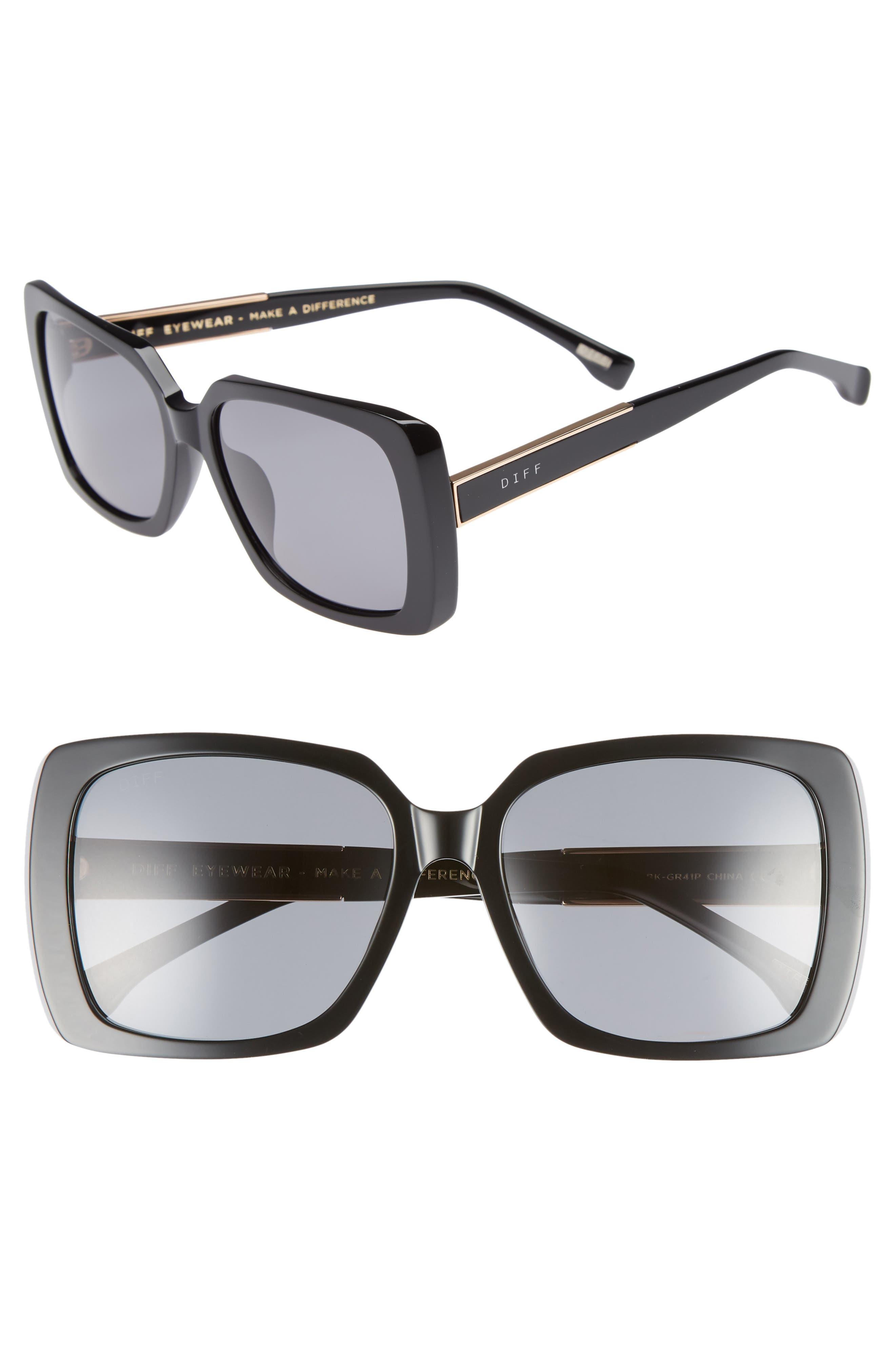 Sophie 52mm Polarized Sunglasses,                             Main thumbnail 1, color,                             001