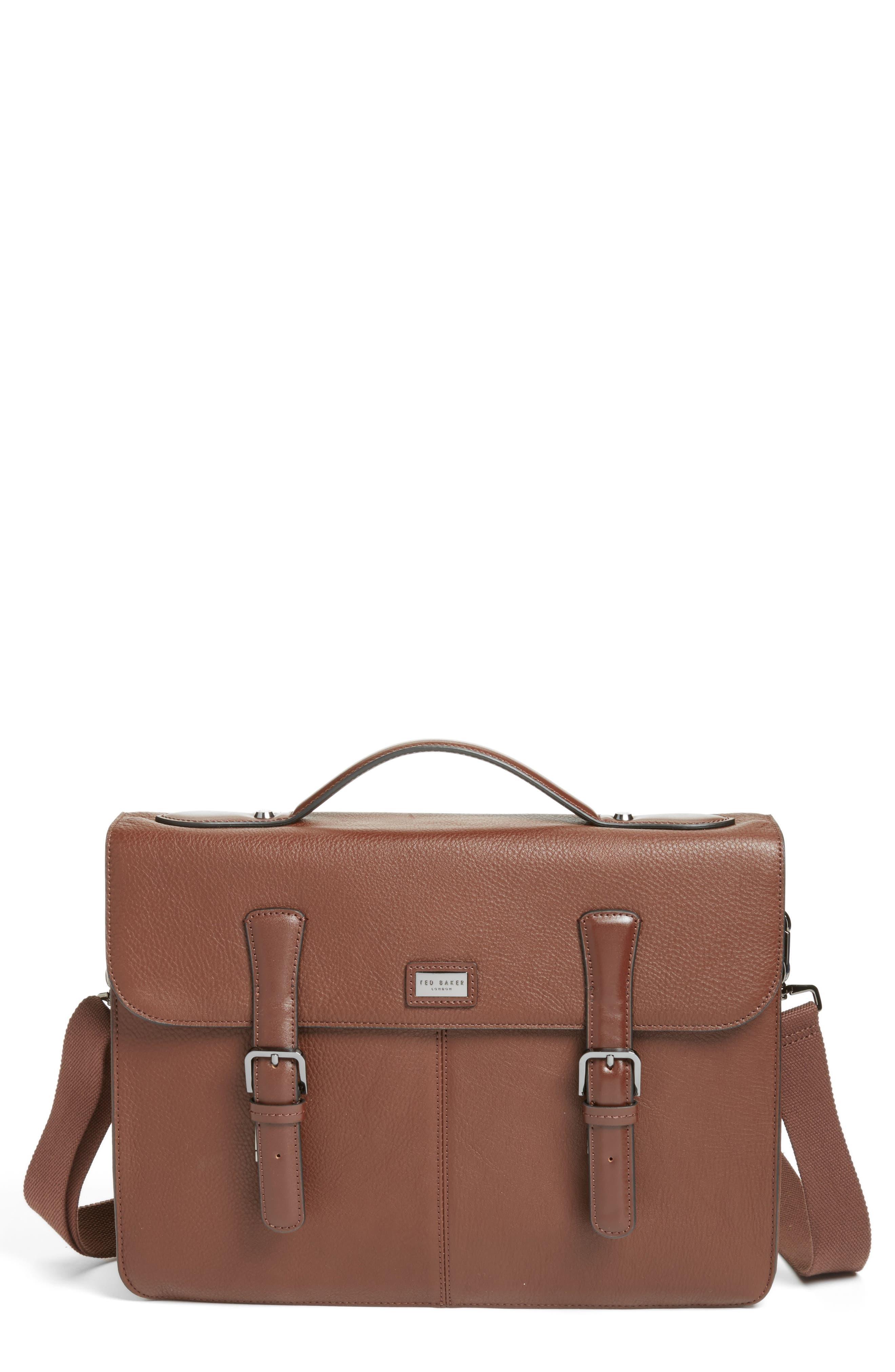 Bengal Leather Satchel,                             Main thumbnail 2, color,