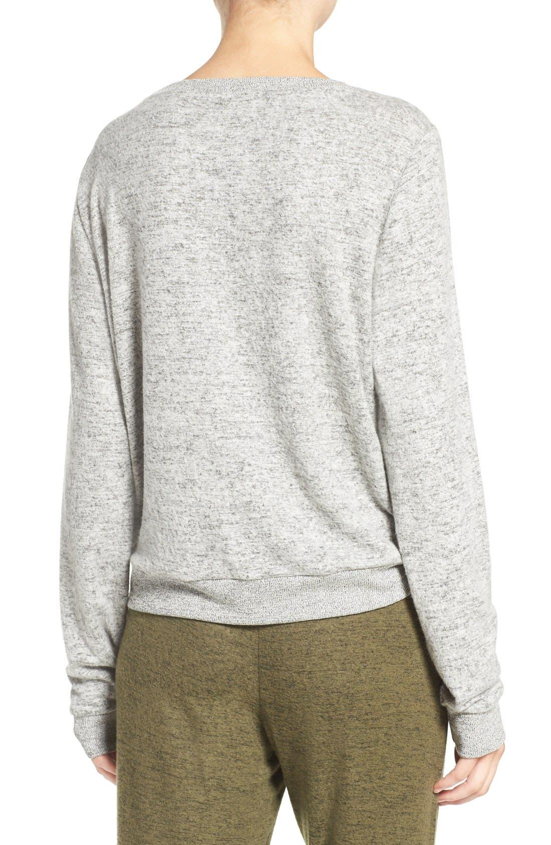Brushed Hacci Sweatshirt,                             Alternate thumbnail 80, color,
