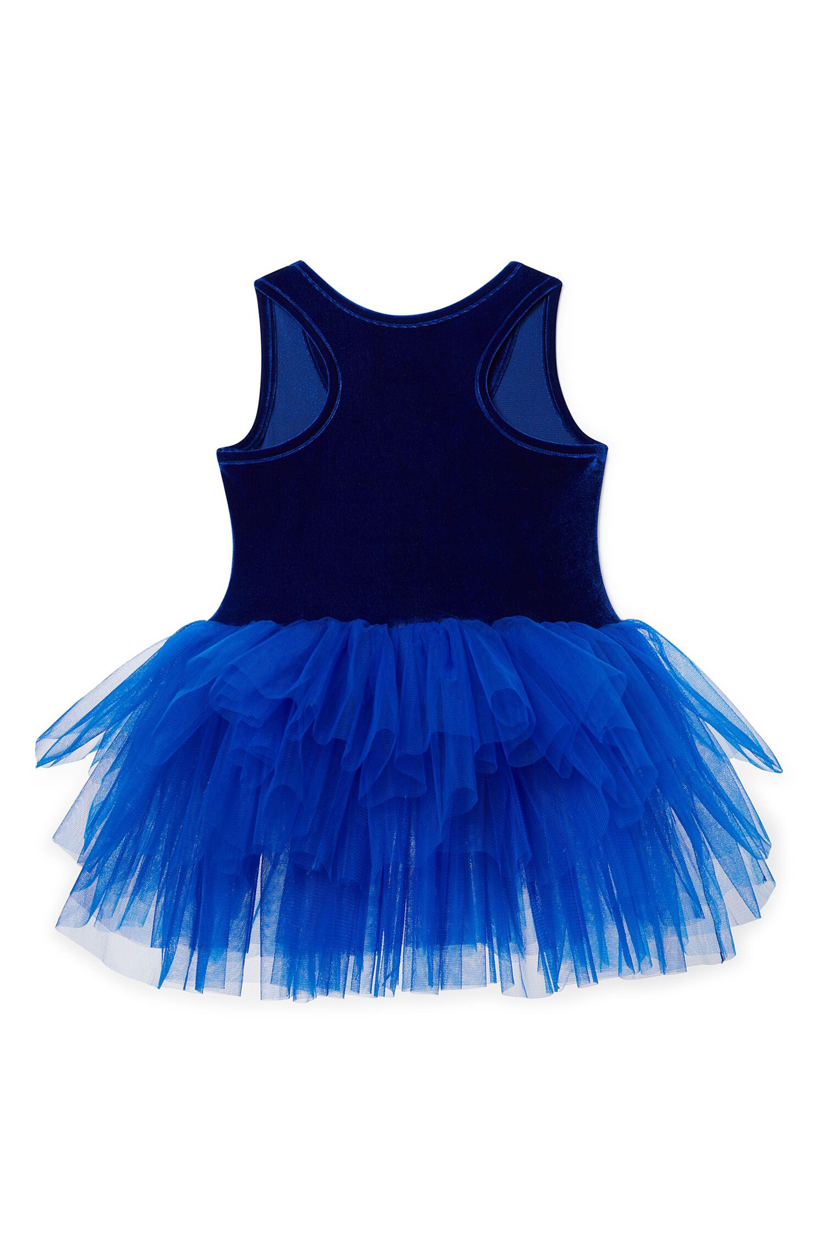Velvet & Tulle Tutu Dress,                             Alternate thumbnail 2, color,