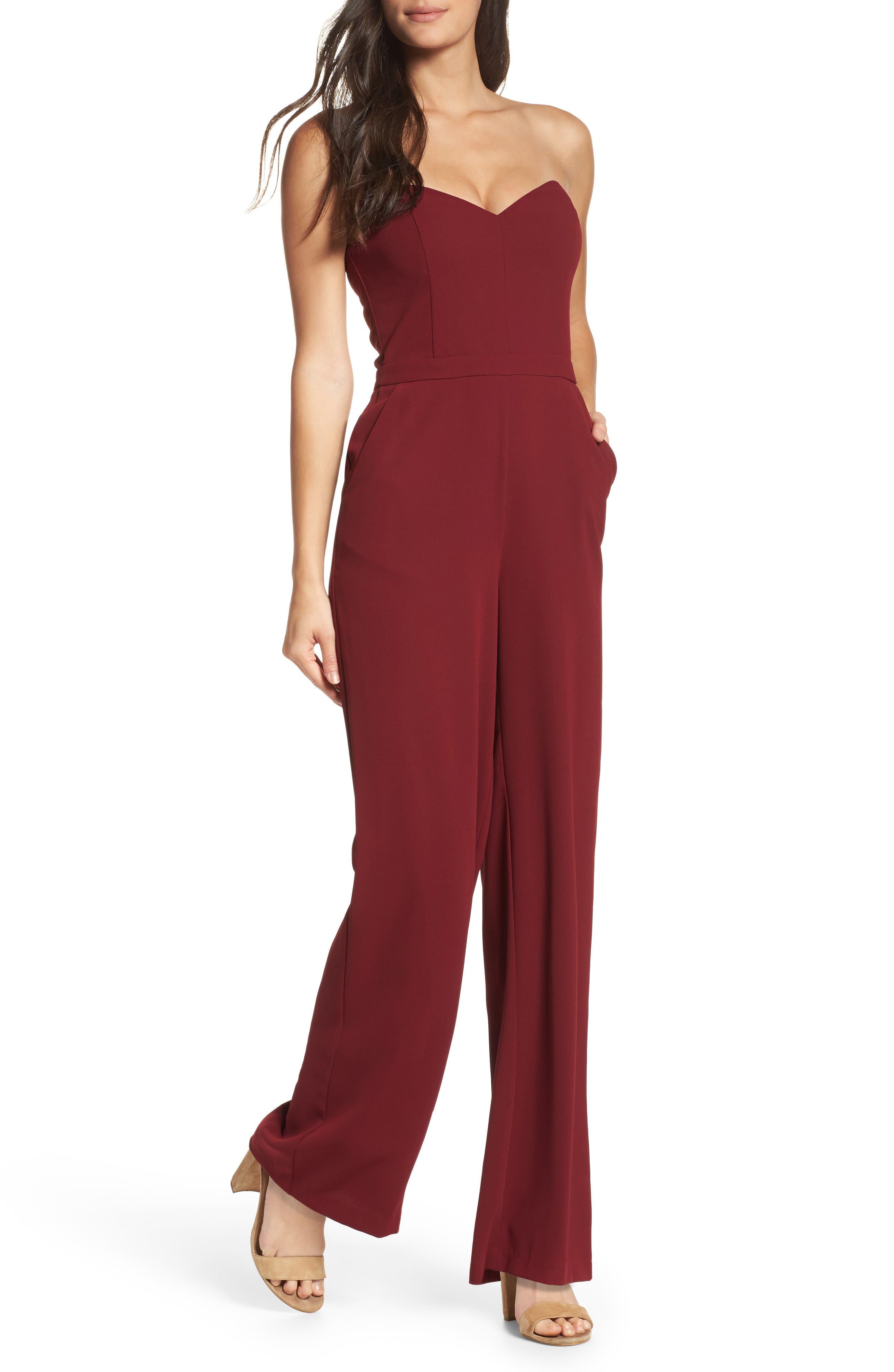Elinda Strapless Jumpsuit,                         Main,                         color, 601