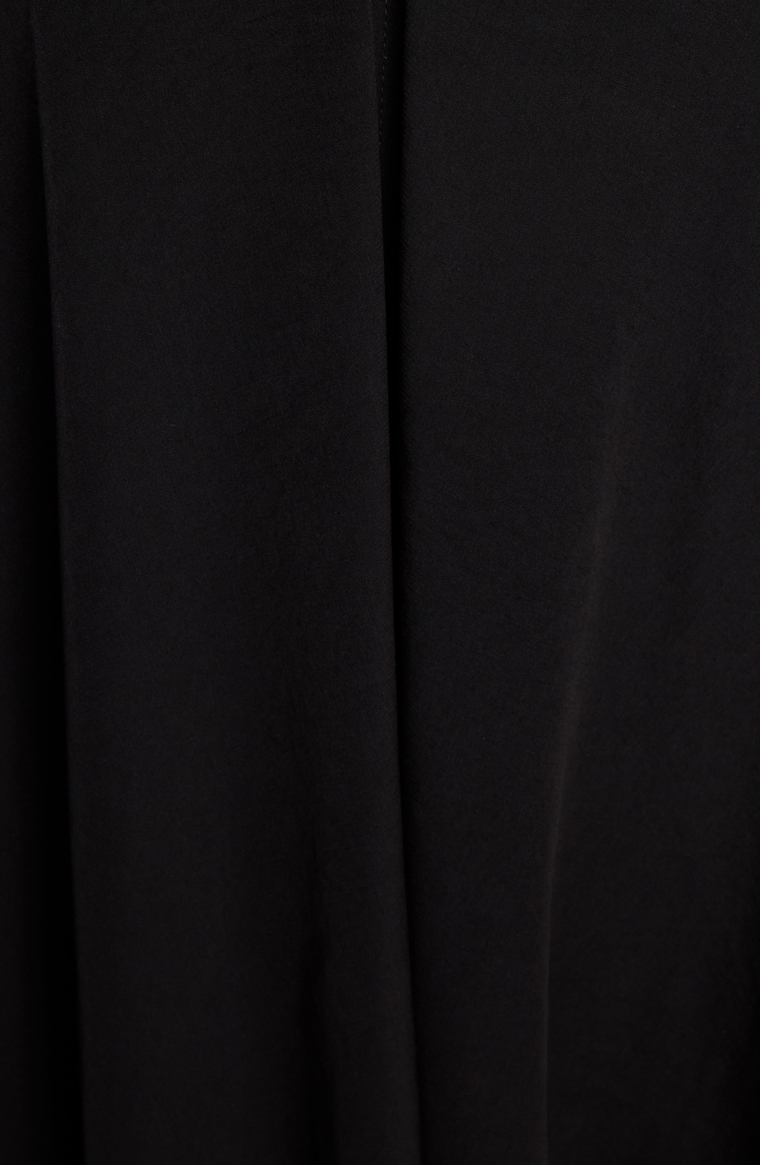 T-Shirt Dress,                             Alternate thumbnail 5, color,                             BLACK