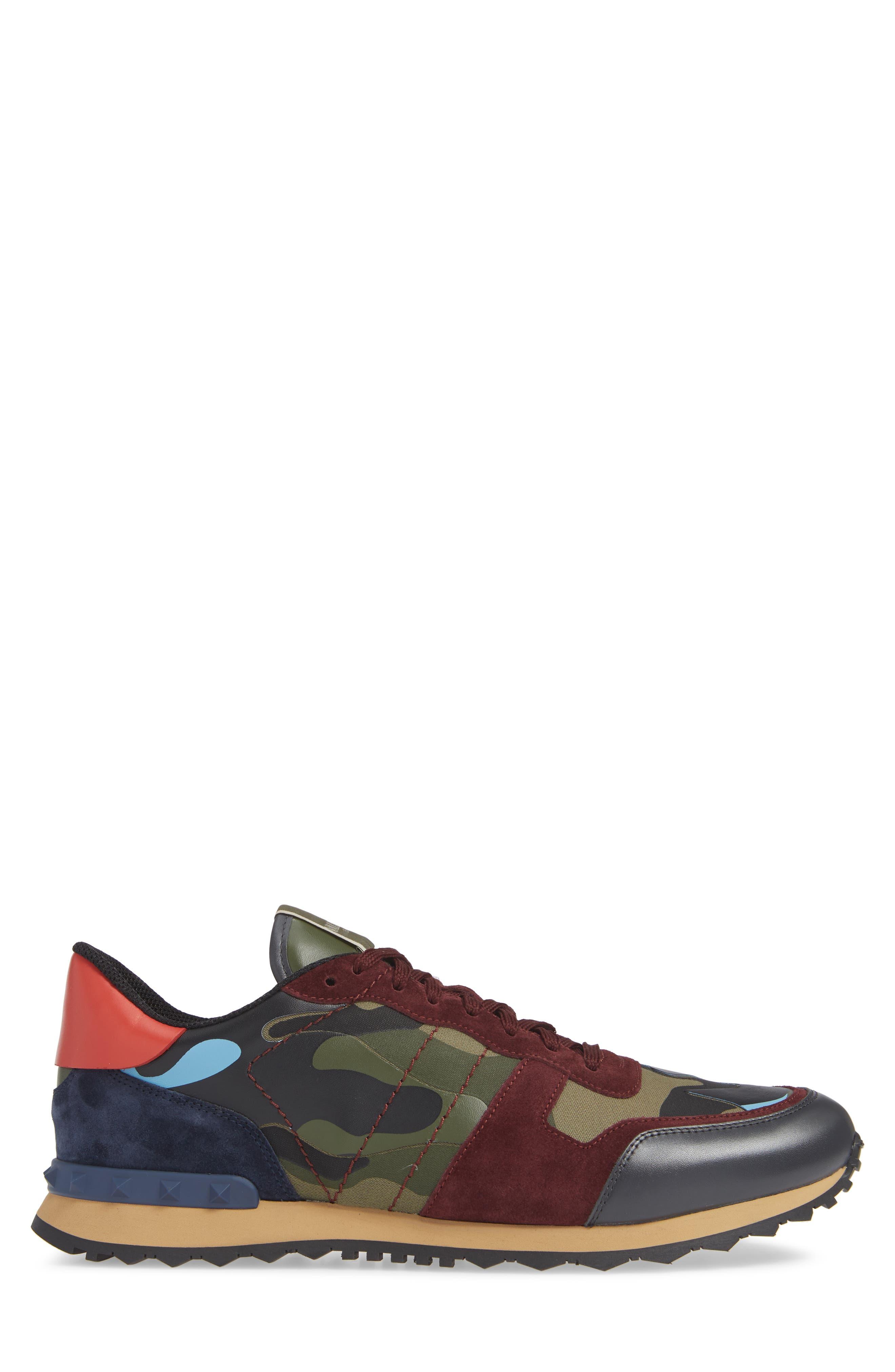 Camo Rockrunner Sneaker,                             Alternate thumbnail 3, color,                             LIGHT BLUE/ BORDEAUX