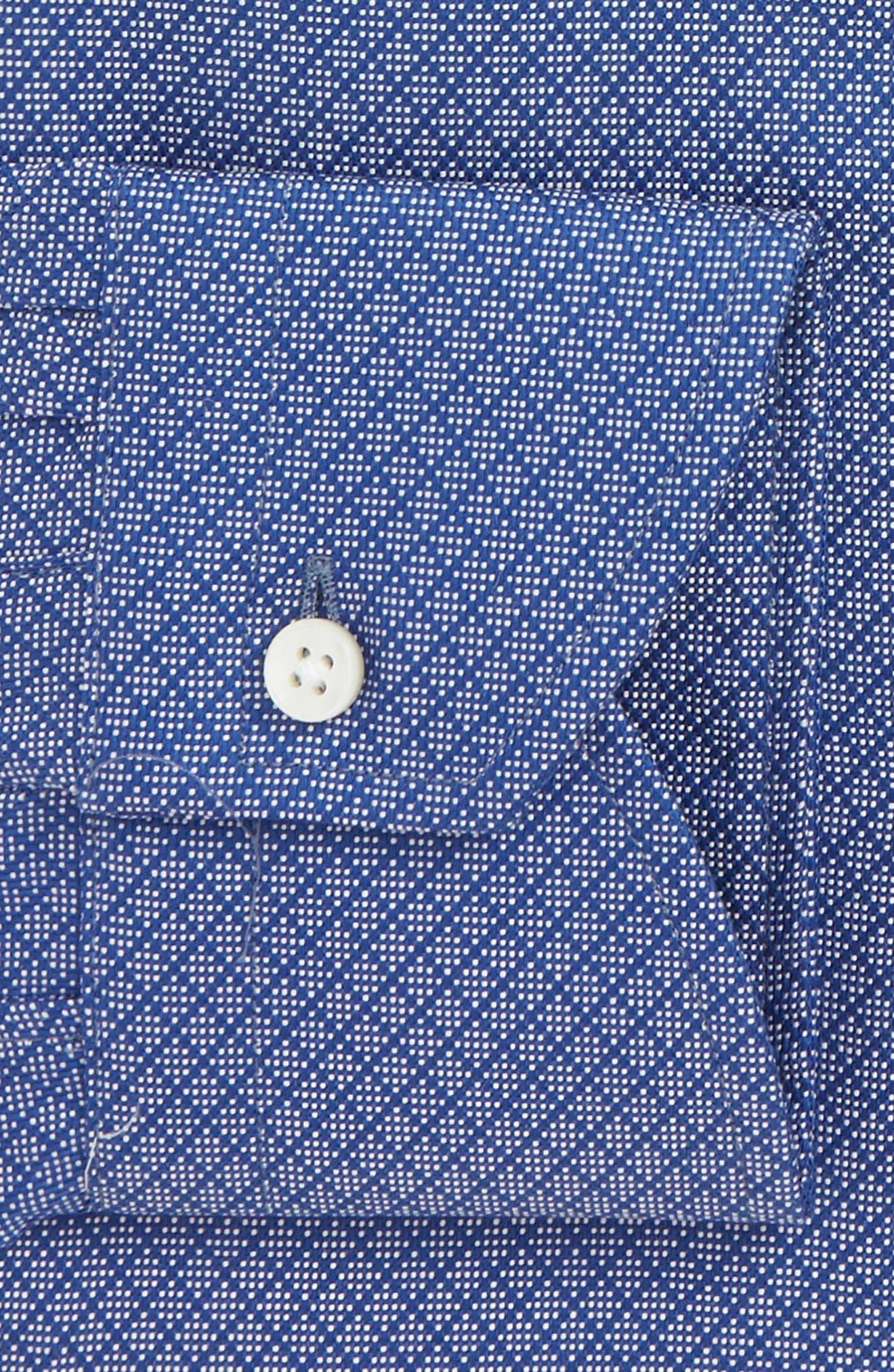 Trim Fit Print Dress Shirt,                             Alternate thumbnail 2, color,                             DARK BLUE
