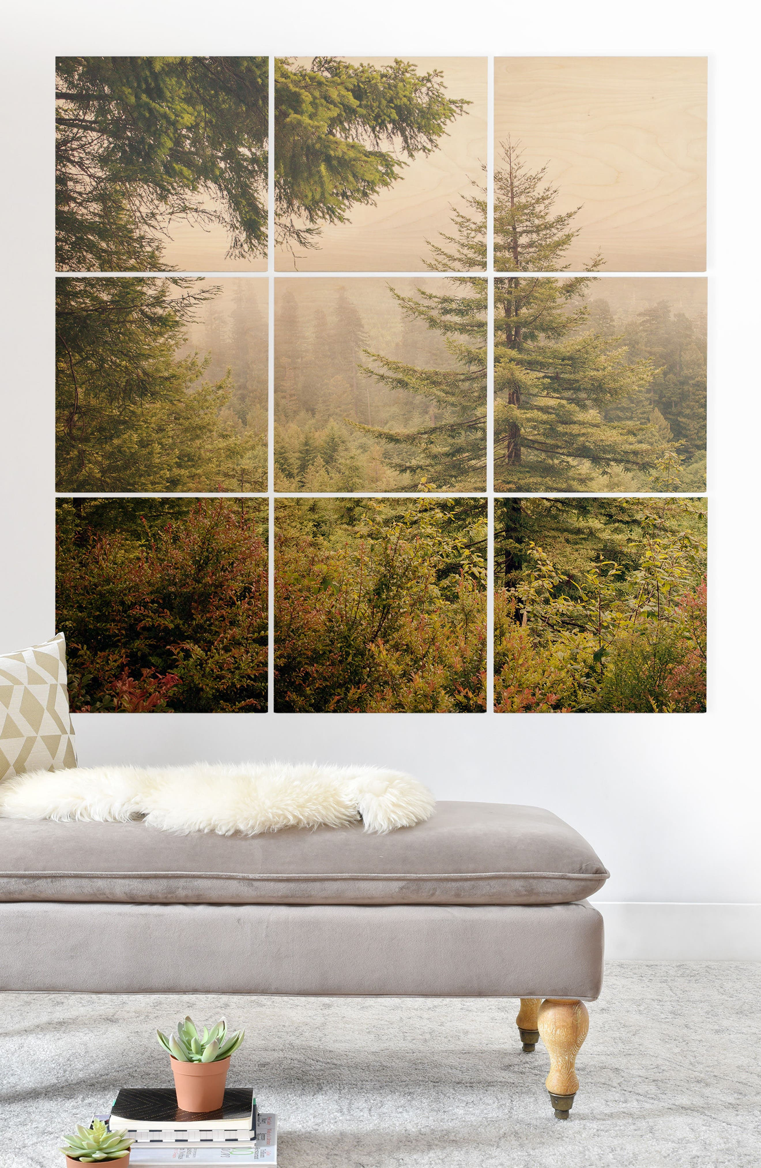 Into the Mist 9-Piece Wood Wall Mural,                             Alternate thumbnail 2, color,