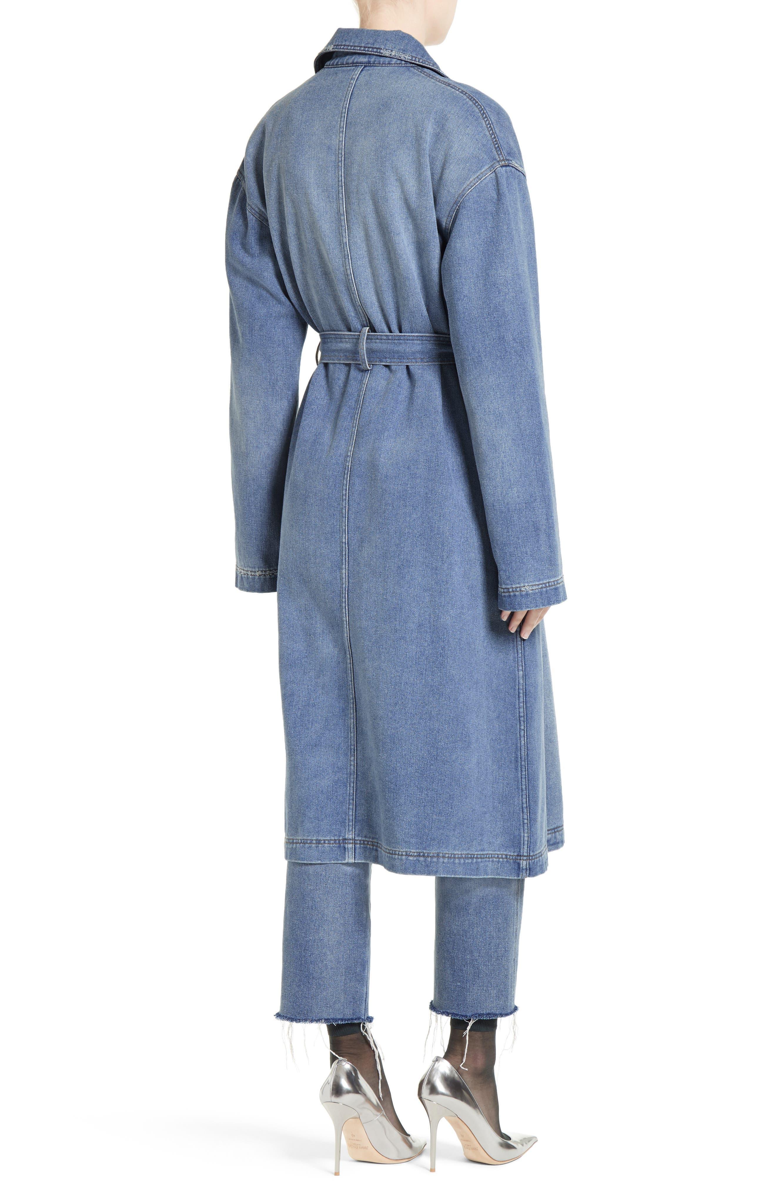 Denim Trench Coat,                             Alternate thumbnail 2, color,                             420