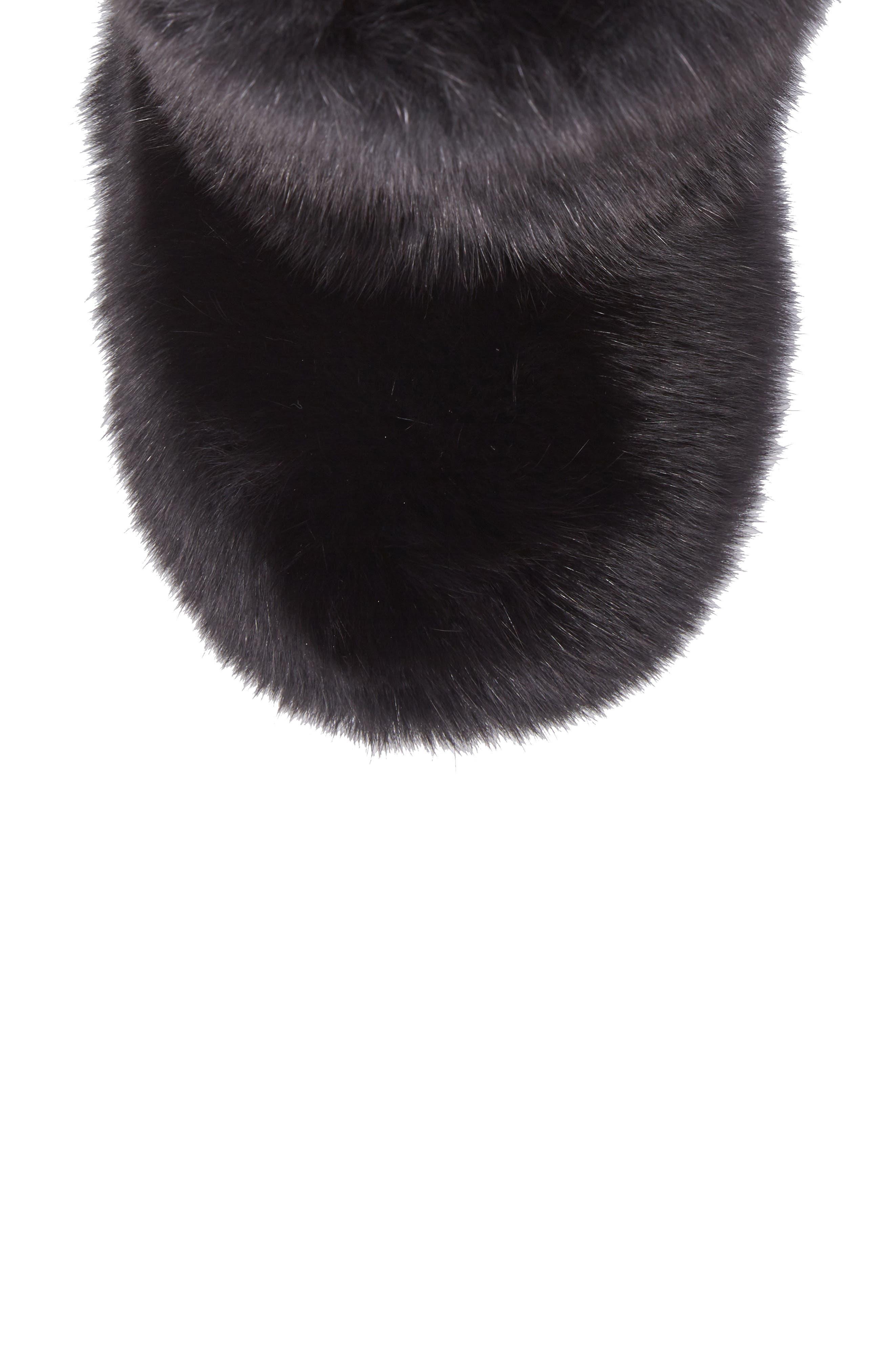 Dalton Genuine Fox & Rabbit Fur Bootie,                             Alternate thumbnail 5, color,                             001