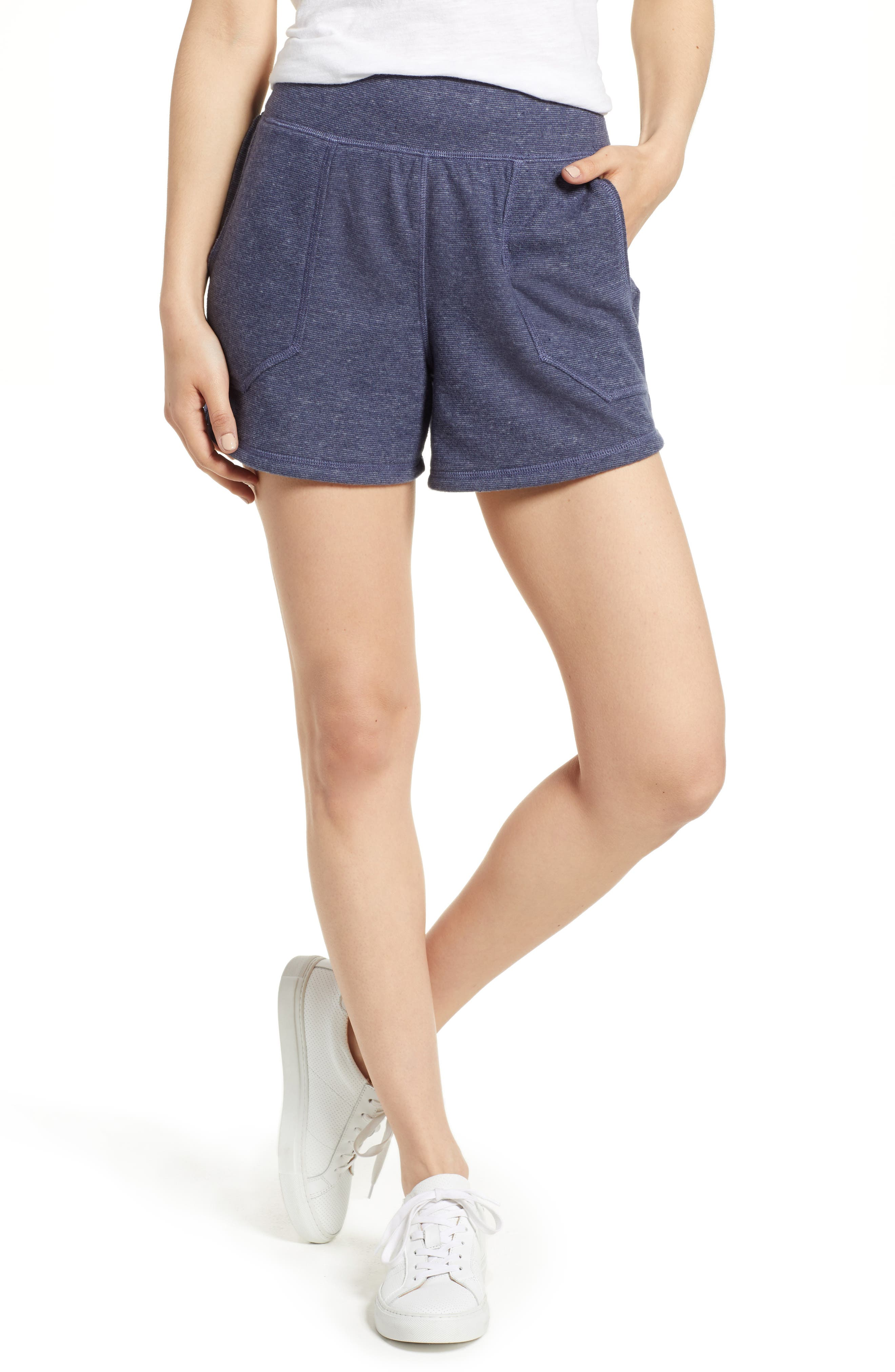 Off-Duty French Terry Shorts,                             Main thumbnail 5, color,