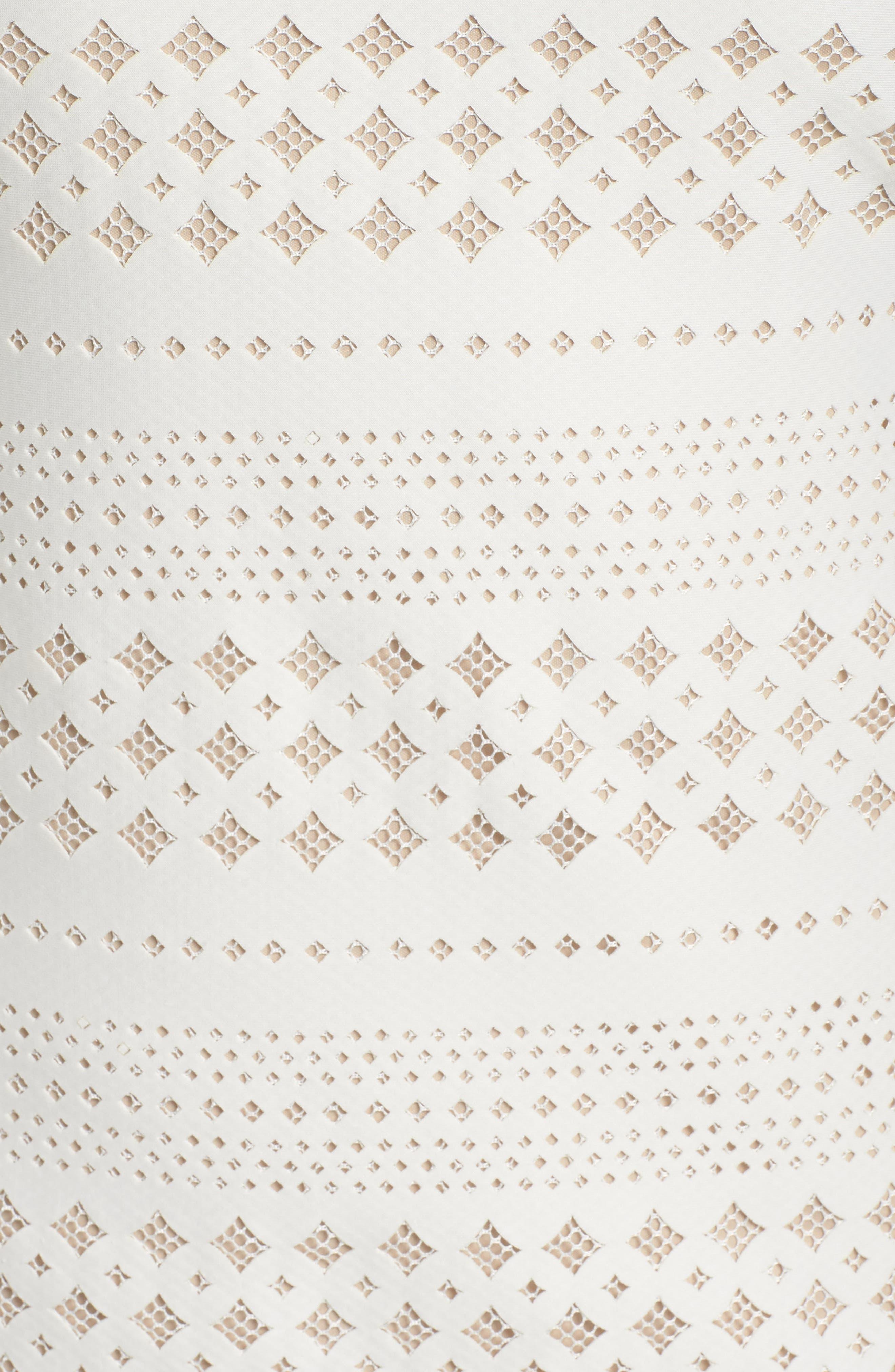 Lasercut Sheath Dress,                             Alternate thumbnail 5, color,