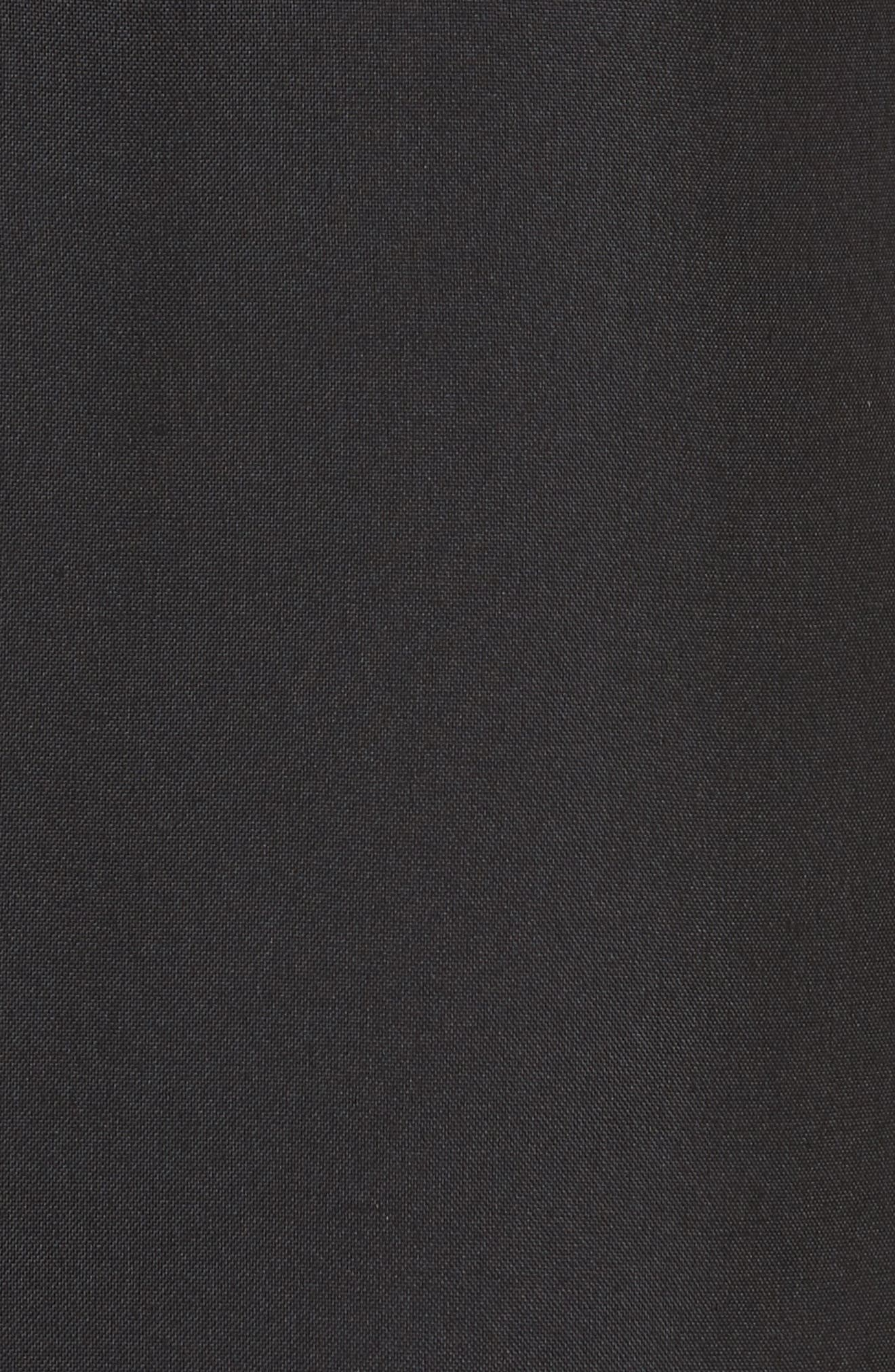 Silk Tulle Ruffle Dress,                             Alternate thumbnail 5, color,                             001