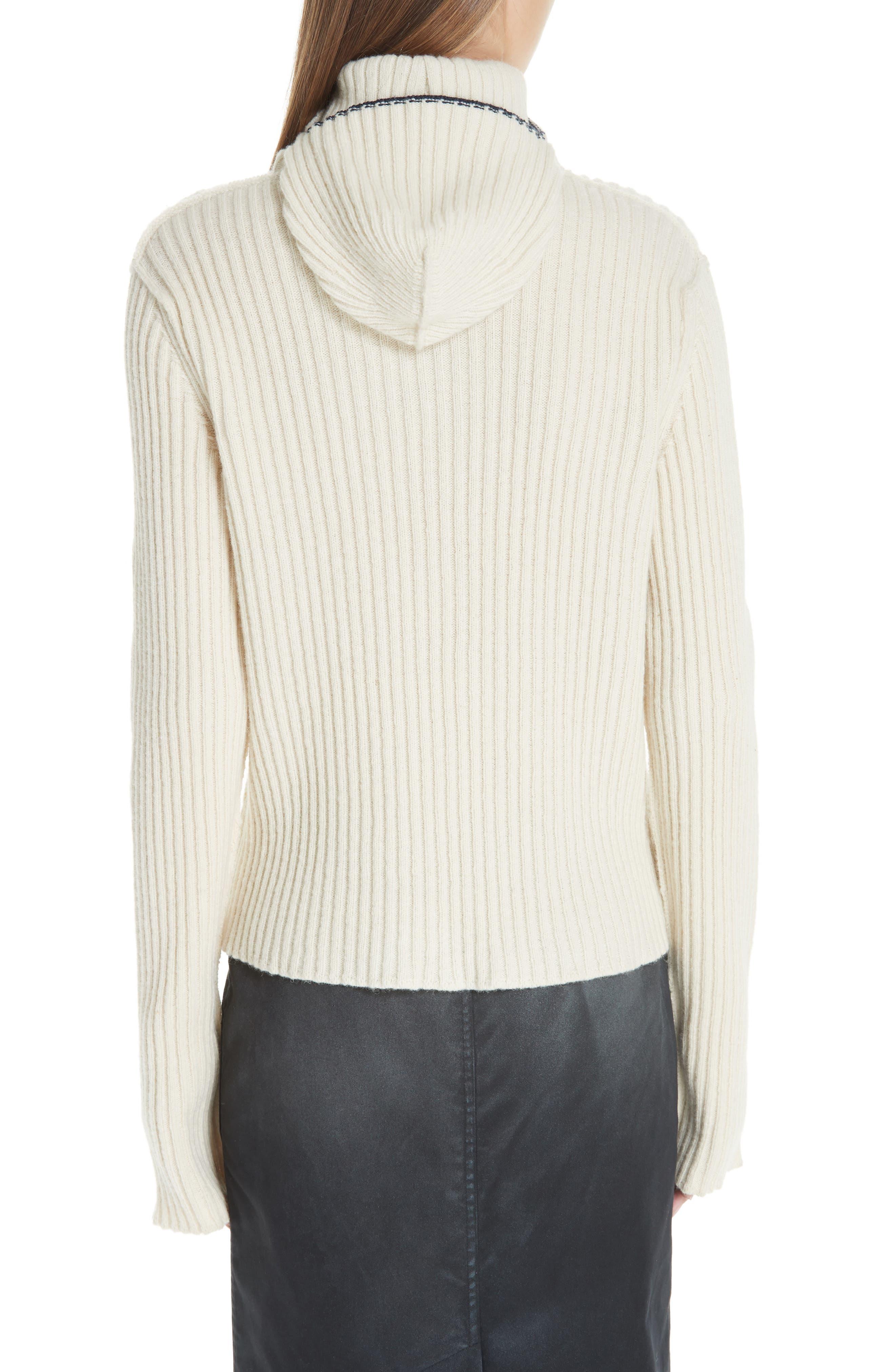 Quilt Jacquard Stripe Sweater,                             Alternate thumbnail 2, color,                             ECRU HAY NAVY