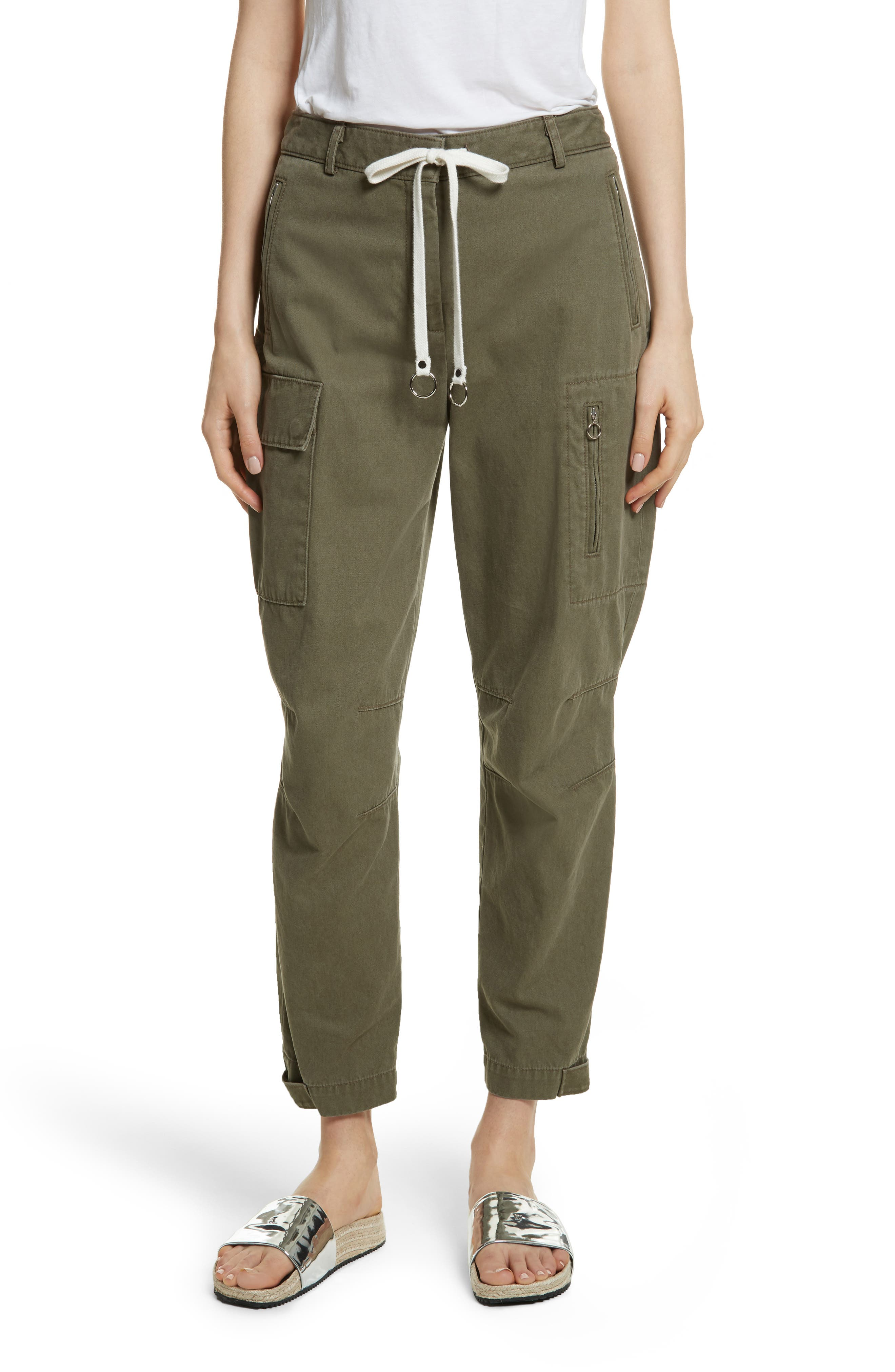 T by Alexander Wang Twill Cargo Pants,                         Main,                         color, 309