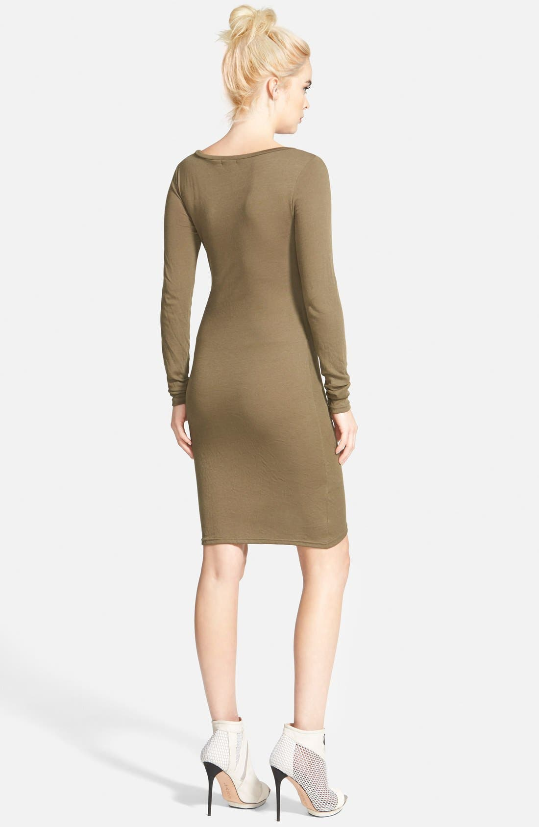 Ruched Long Sleeve Dress,                             Alternate thumbnail 42, color,