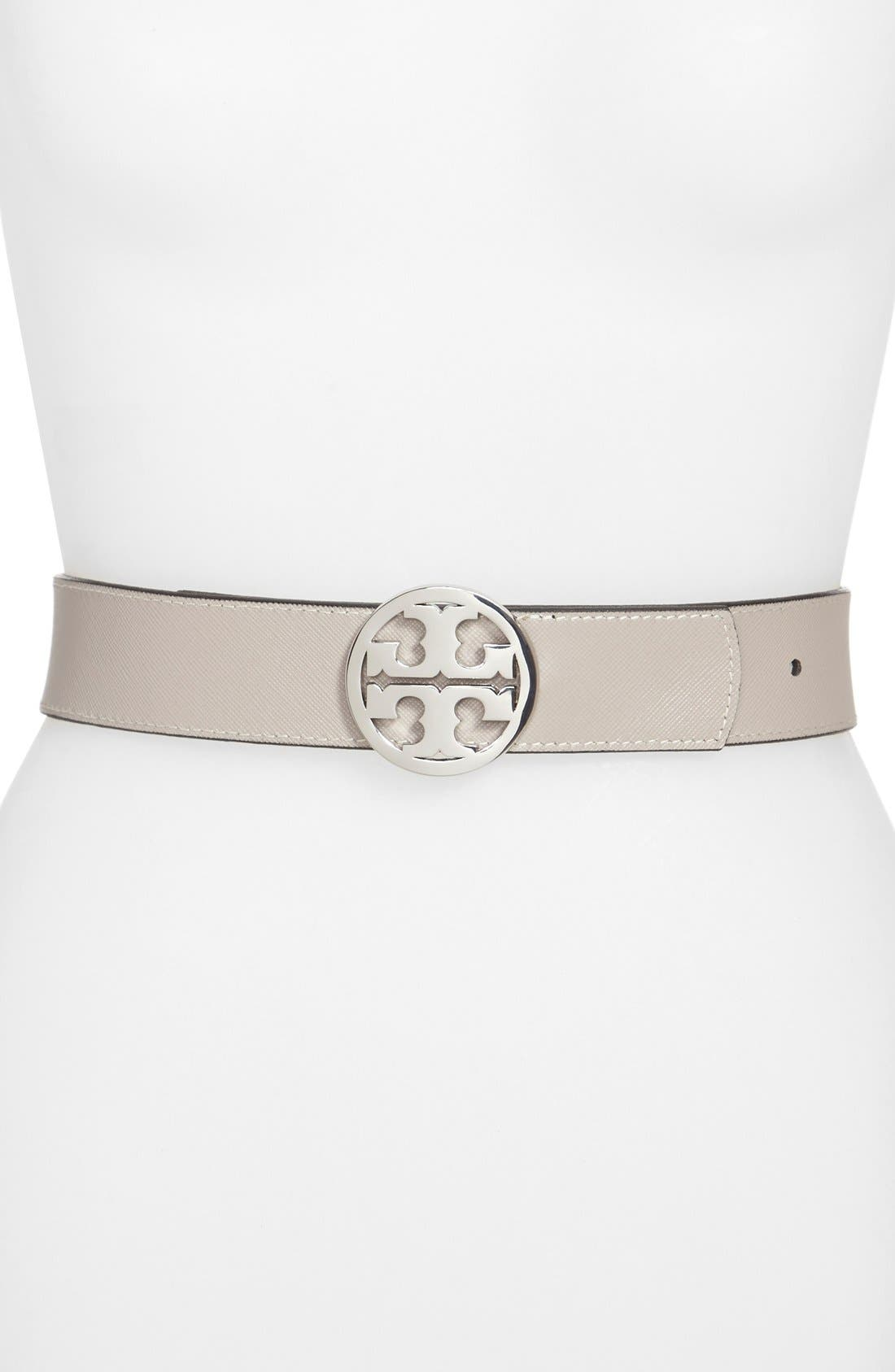 'Classic Logo' Reversible Leather Belt,                             Alternate thumbnail 2, color,                             001