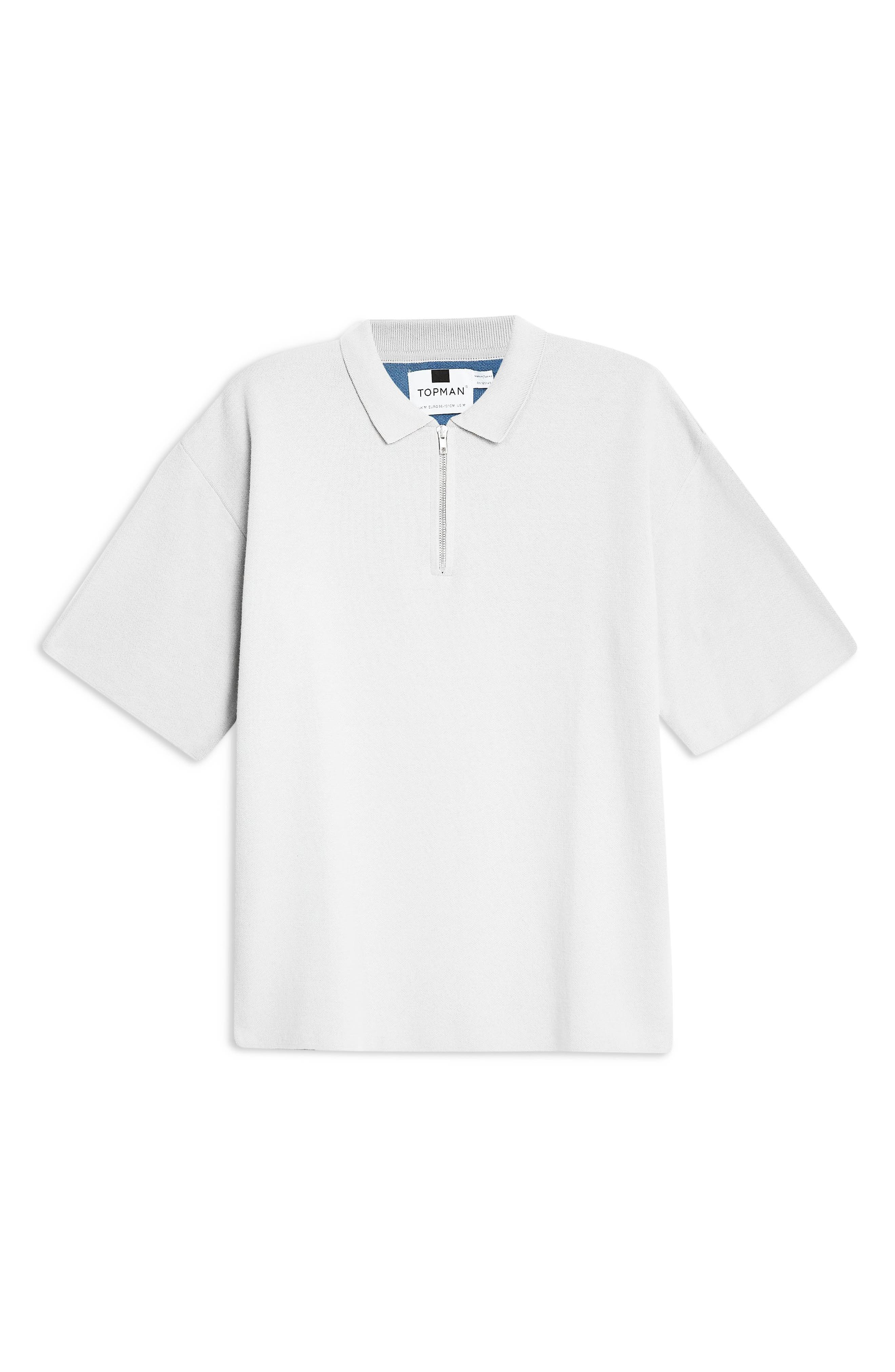 Sweater Knit Polo,                             Alternate thumbnail 4, color,                             GREY