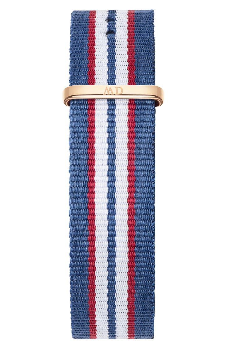 DANIEL WELLINGTON 'Classic Belfast' 20mm NATO Watch Strap, Main, color, ...