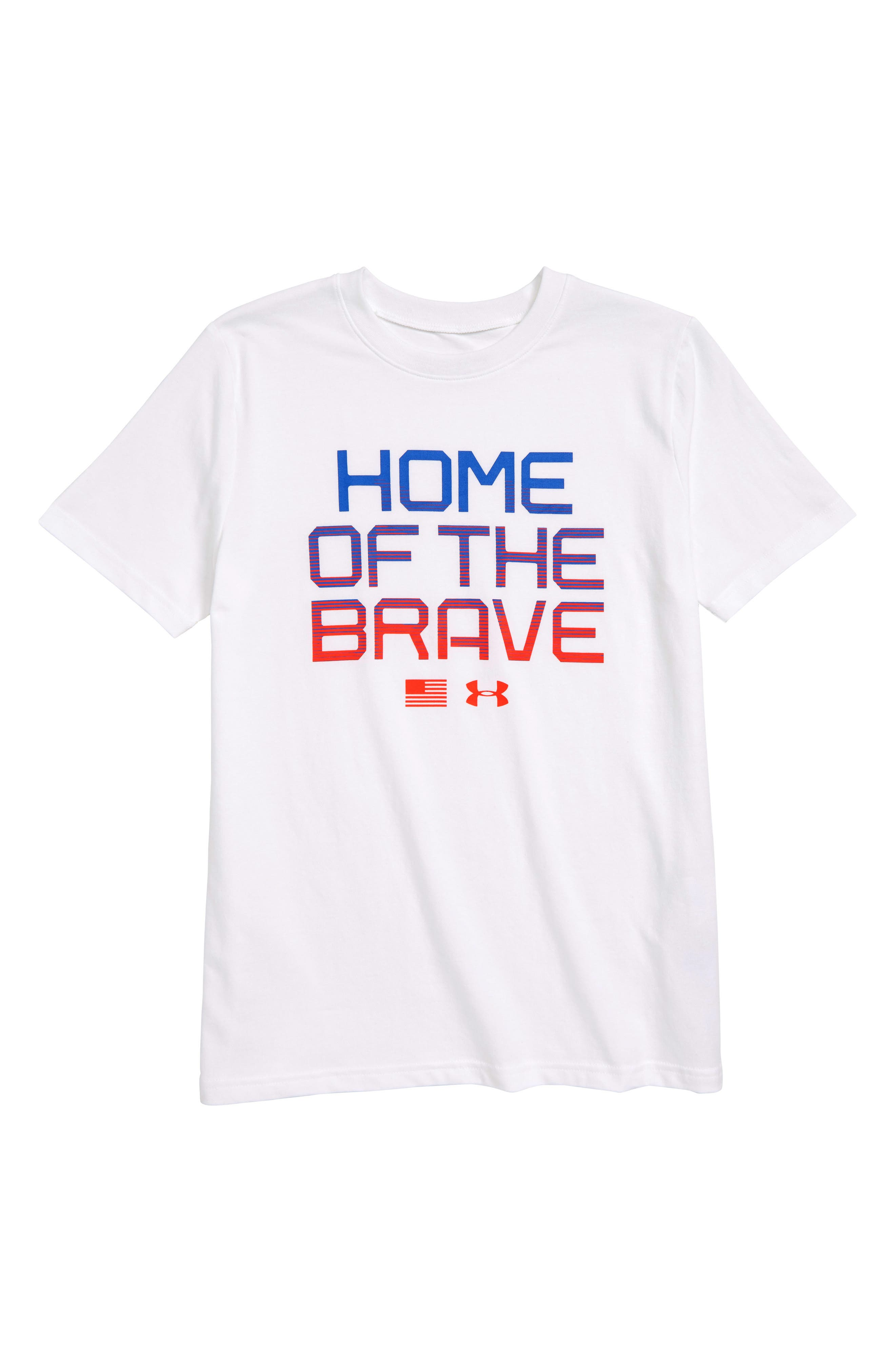 Home of the Brave Graphic T-Shirt,                             Main thumbnail 1, color,                             100