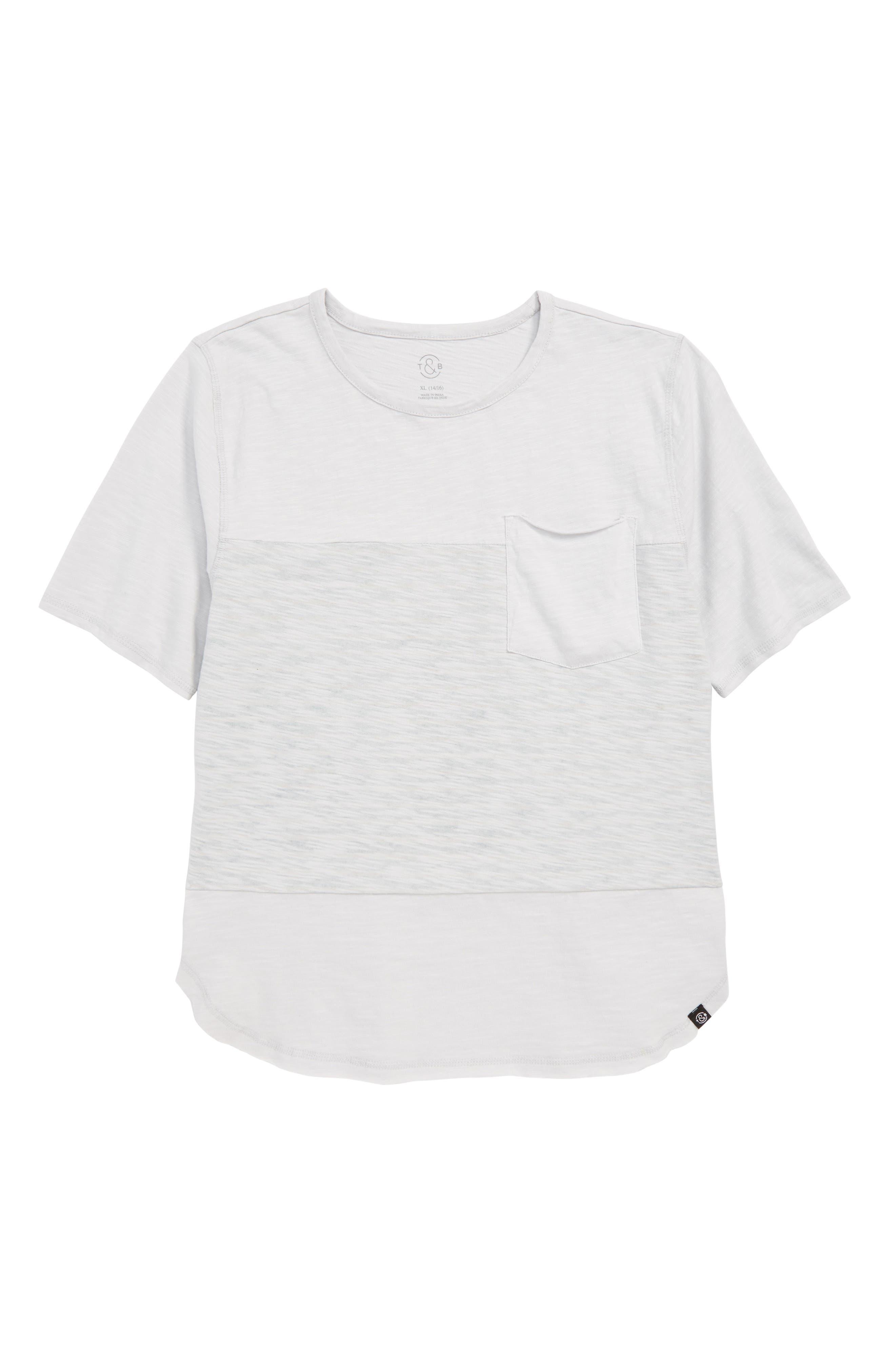 Stripe Blocked T-Shirt,                             Main thumbnail 1, color,