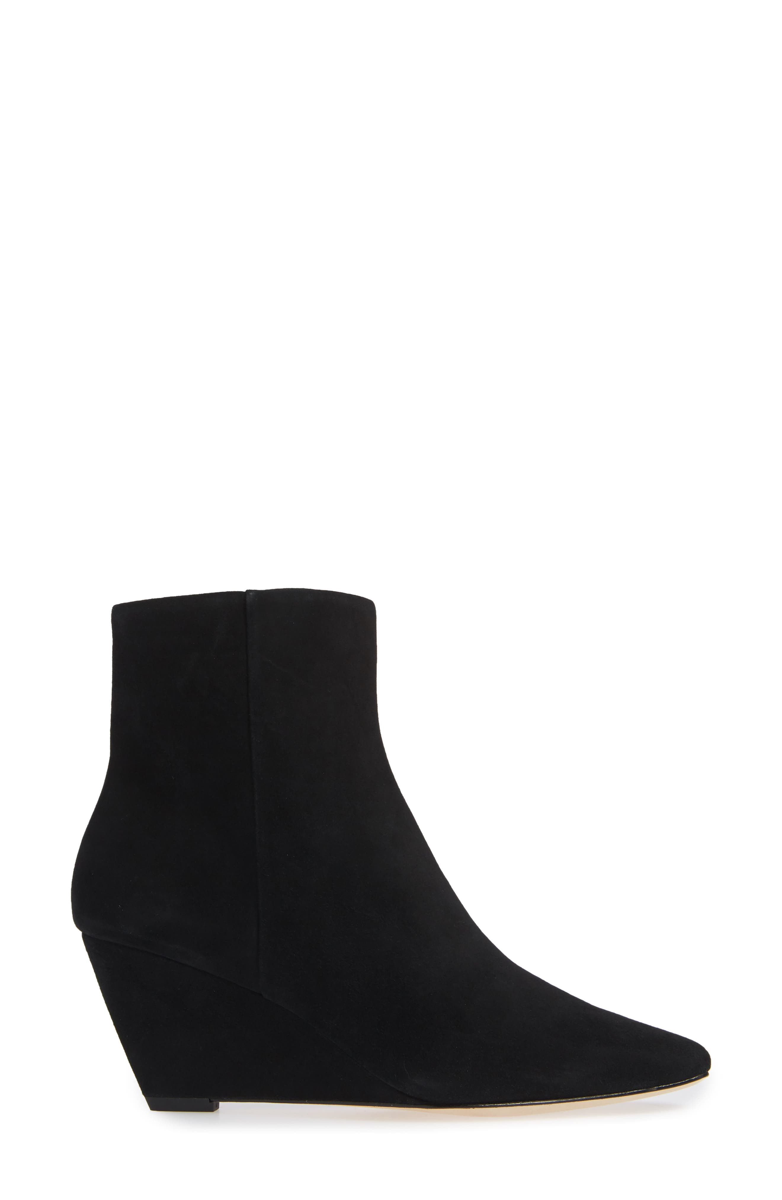 Jae Wedge Bootie,                             Alternate thumbnail 3, color,                             BLACK